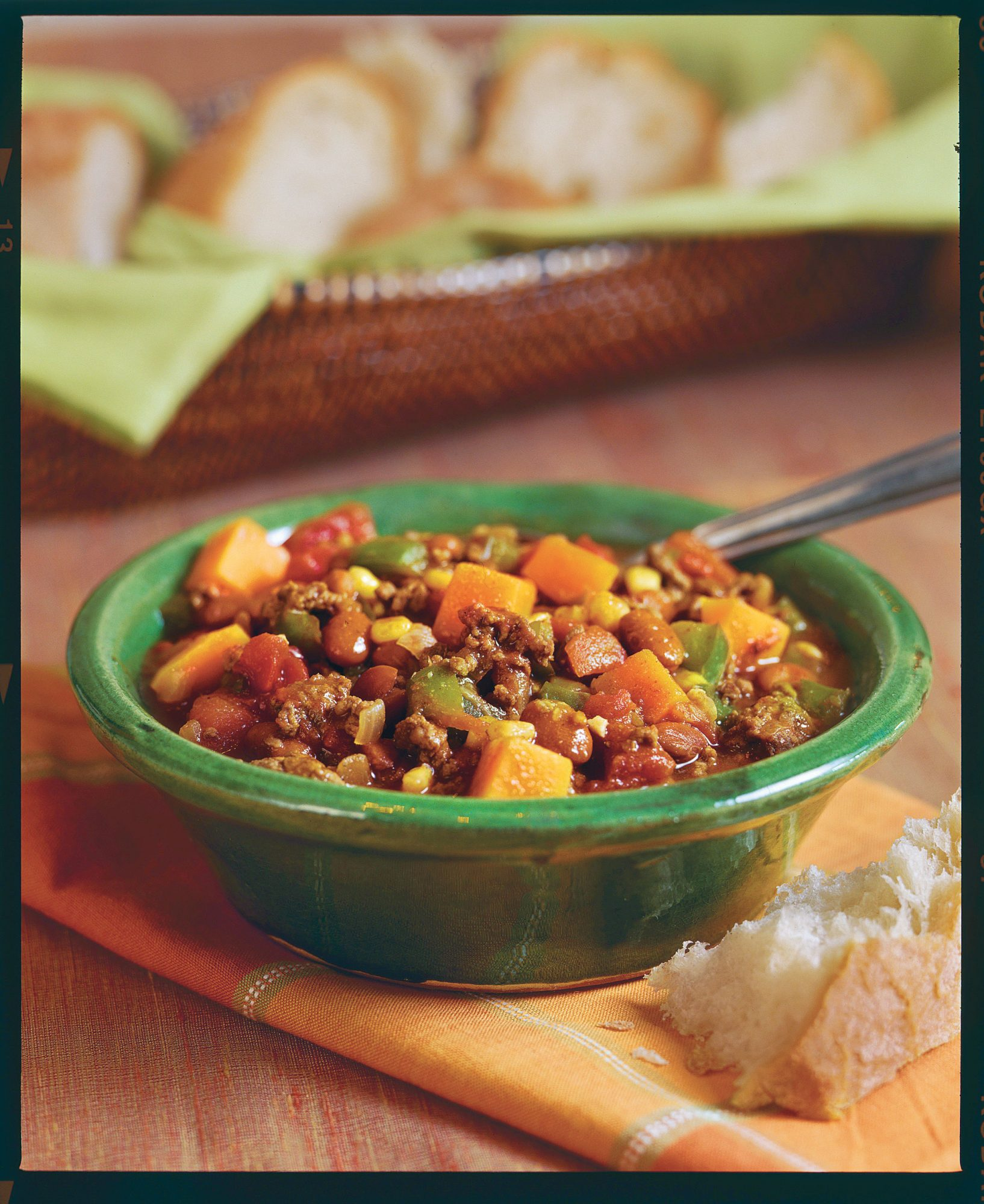 """[RECIPE_LINK """"1144129"""" """"Beef-and-Butternut Squash Chili""""]"""