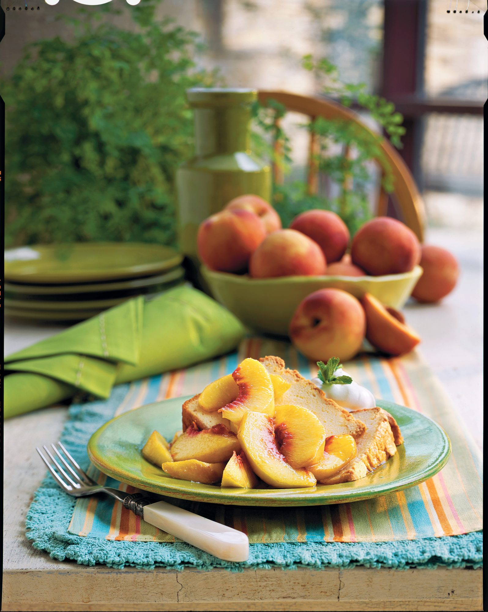 Sweet Peaches and Pound Cake