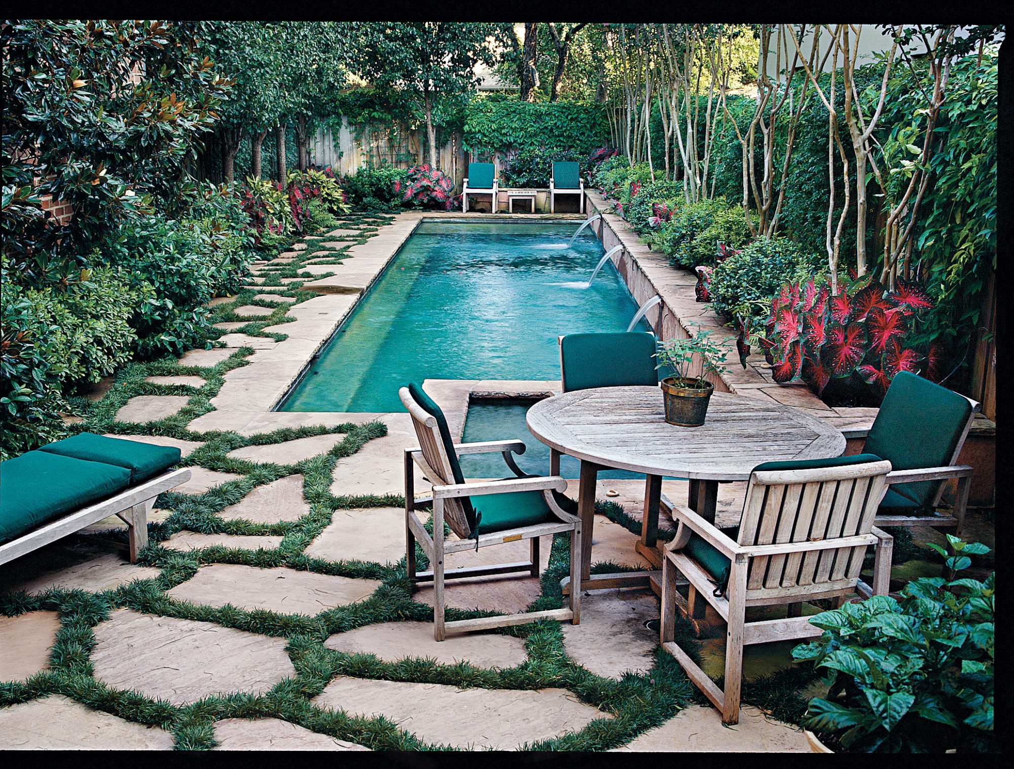 Enter a swimming pool 39 s oasis southern living for Garden oases pool entrance