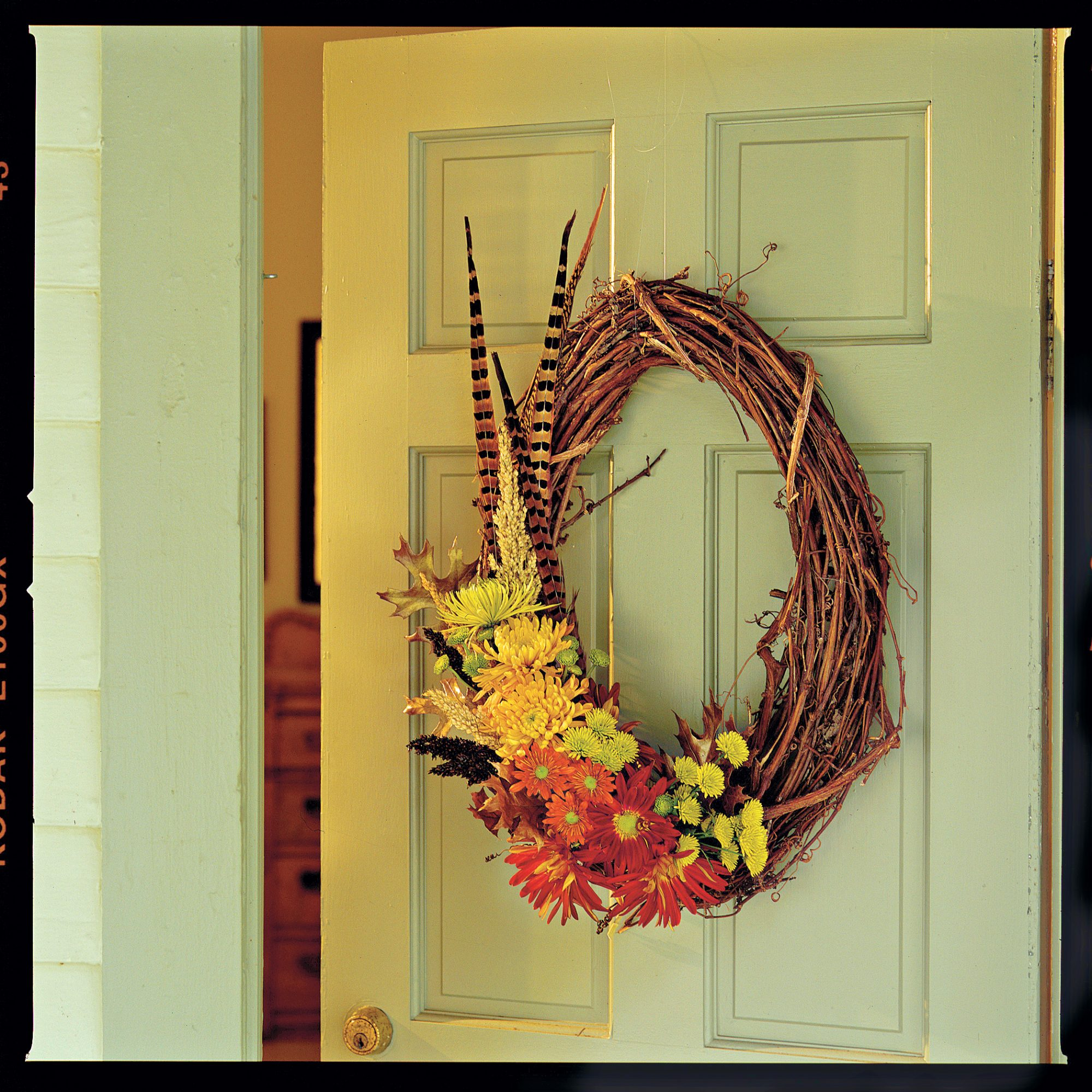 Thanksgiving Door Wreaths and Centerpieces - Southern Living