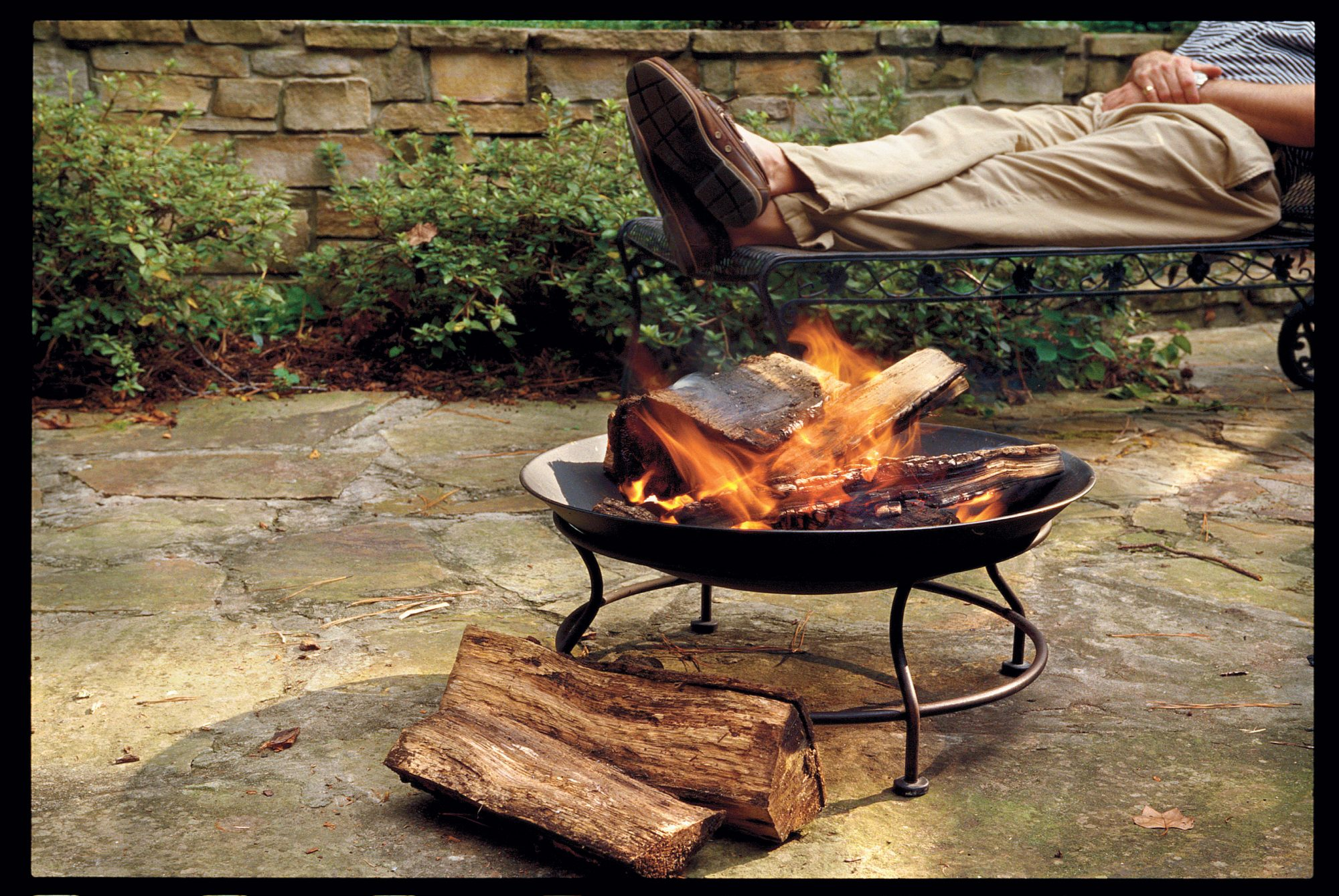 outdoor fireplaces southern living