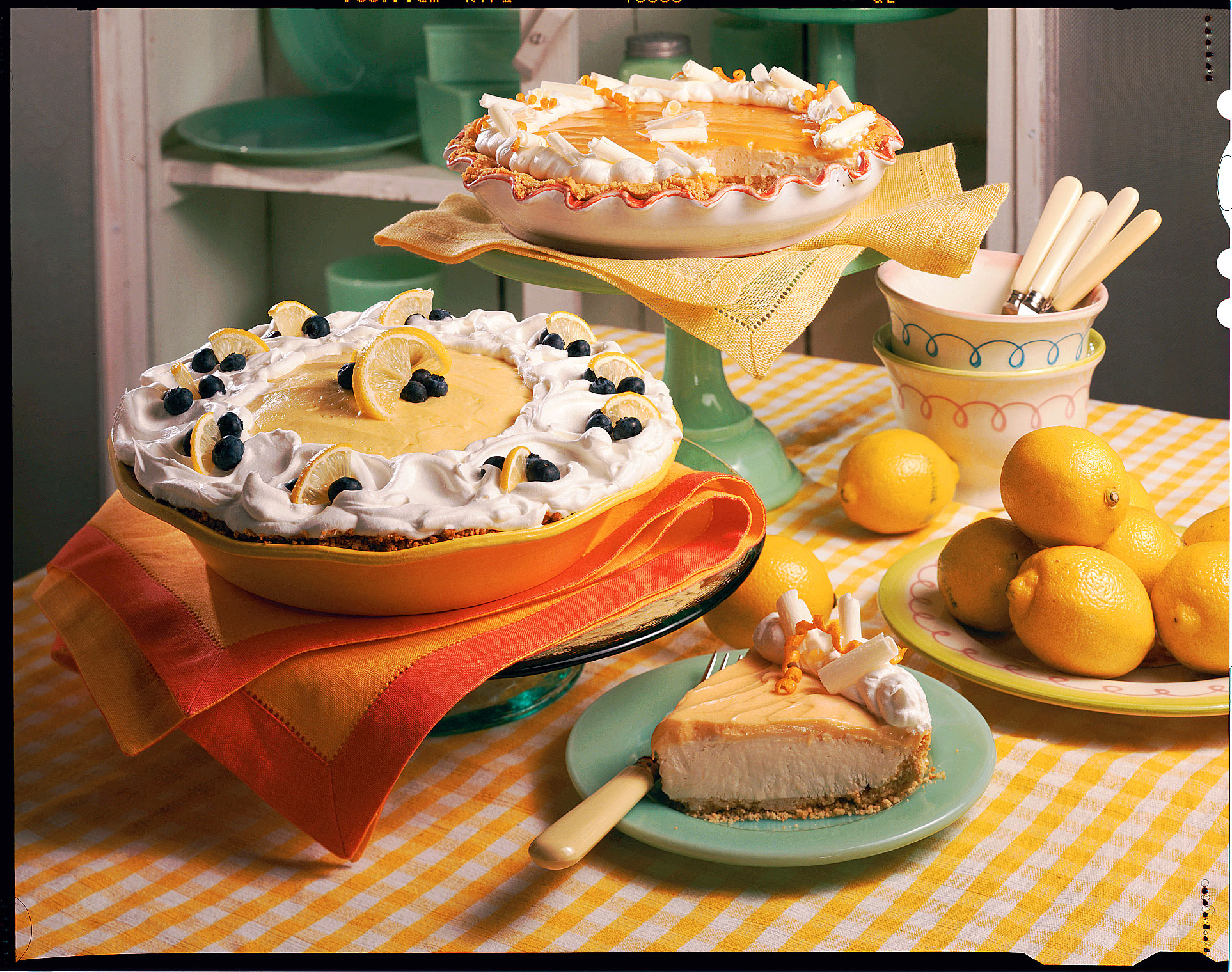 Fresh Blueberry Recipes: Lemon-Blueberry Cream Pie