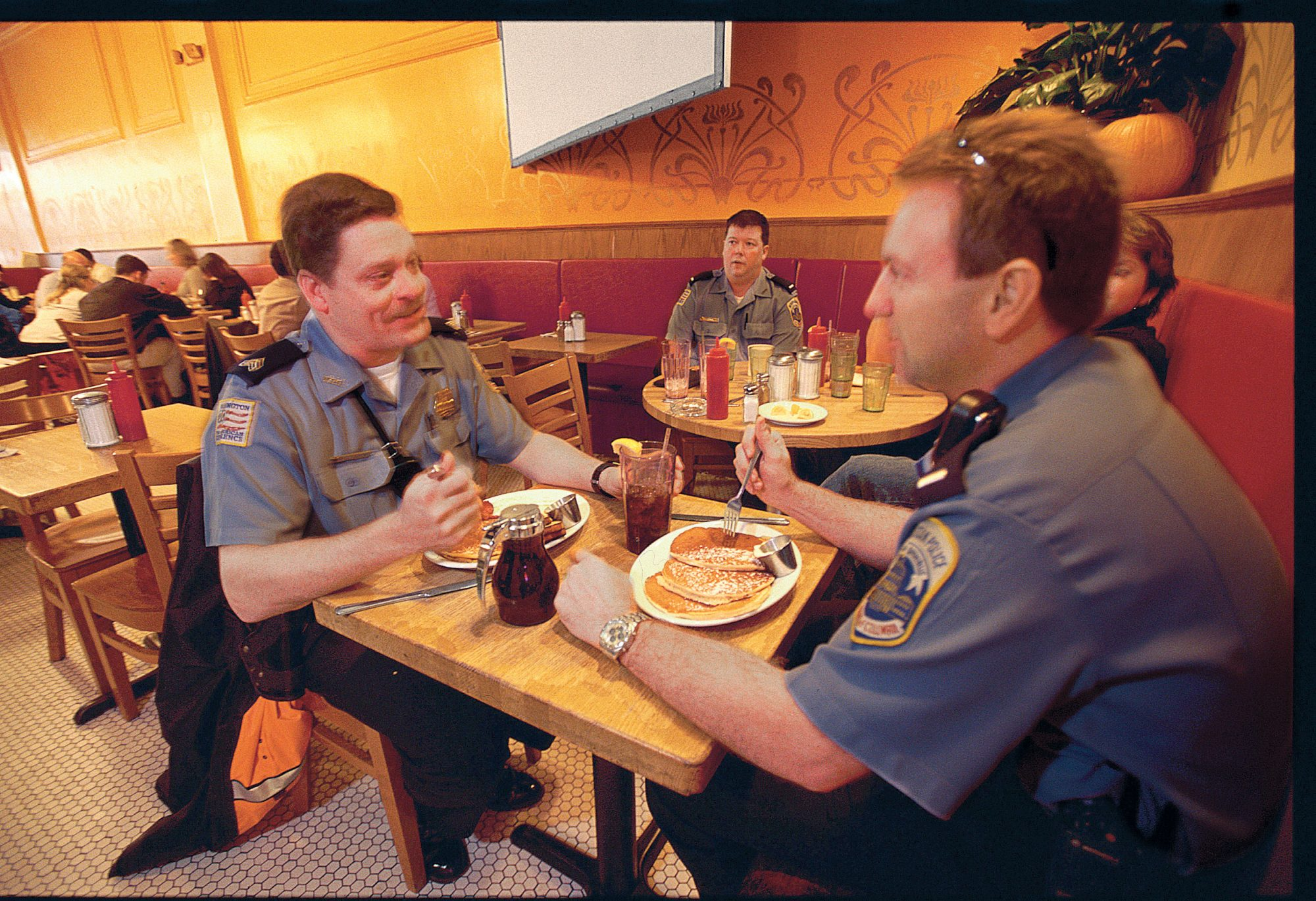 policemen dining at the diner
