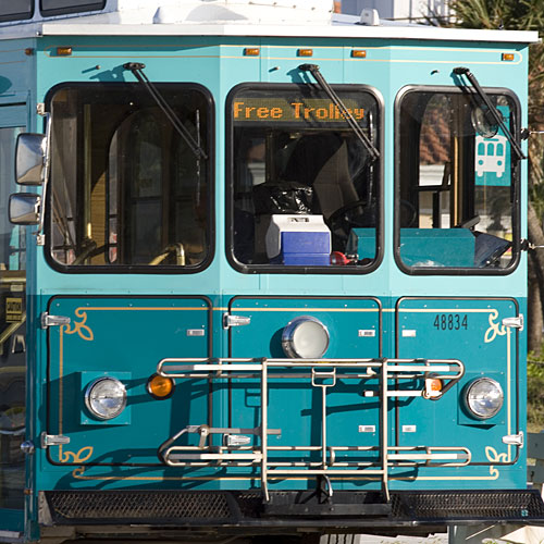 Take the trolley, bicycle, and more ways to explore Anna Maria Island, Florida.