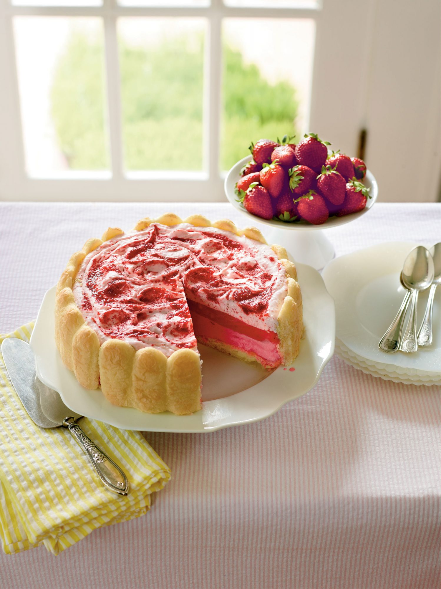 Strawberry Semifreddo Shortcake
