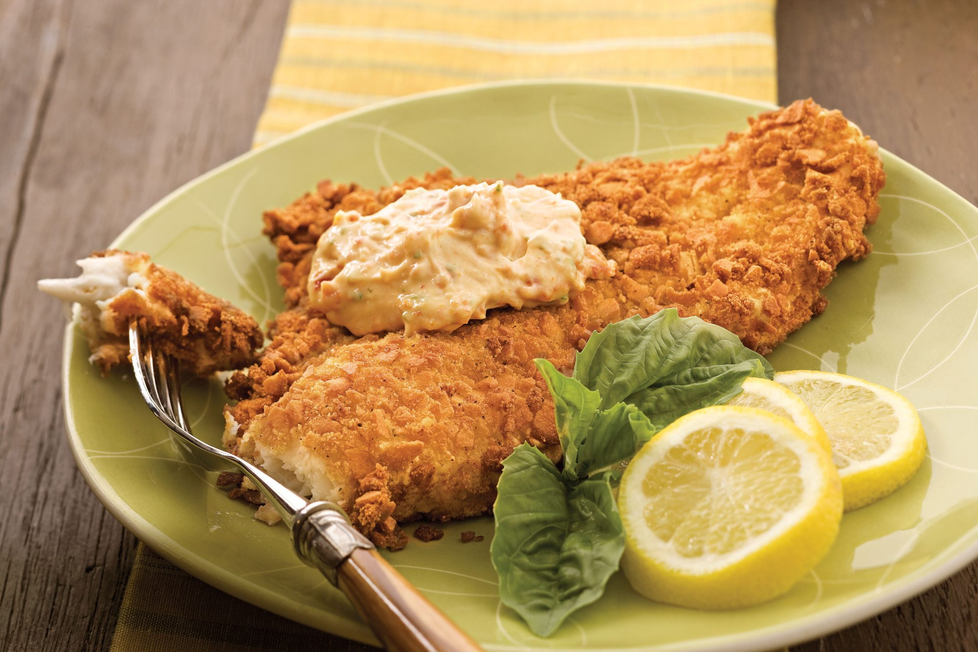 Tuscan Catfish With Sun-dried Tomato Aioli recipe