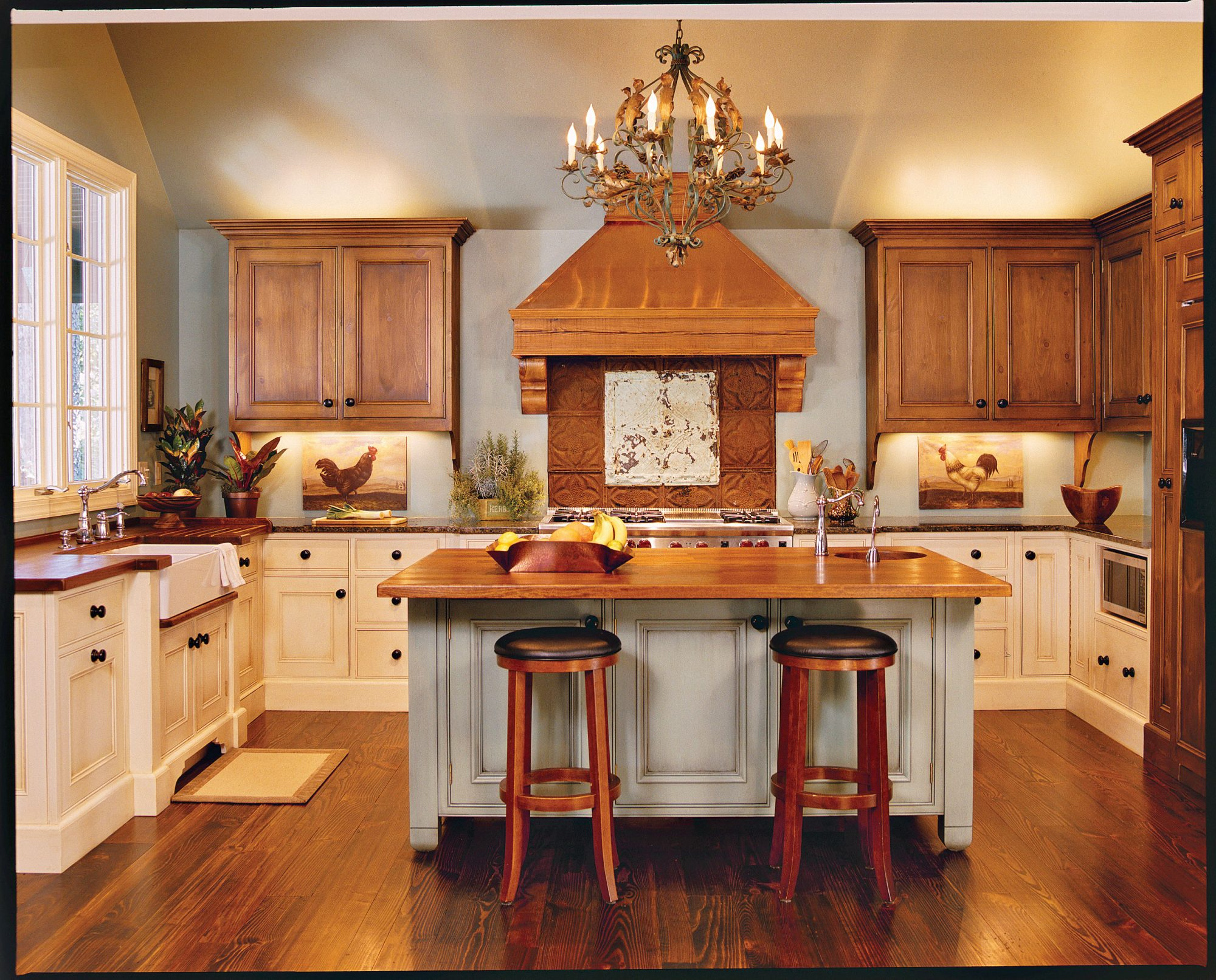 Our best cottage kitchens southern living - 10x10 kitchen designs with island ...