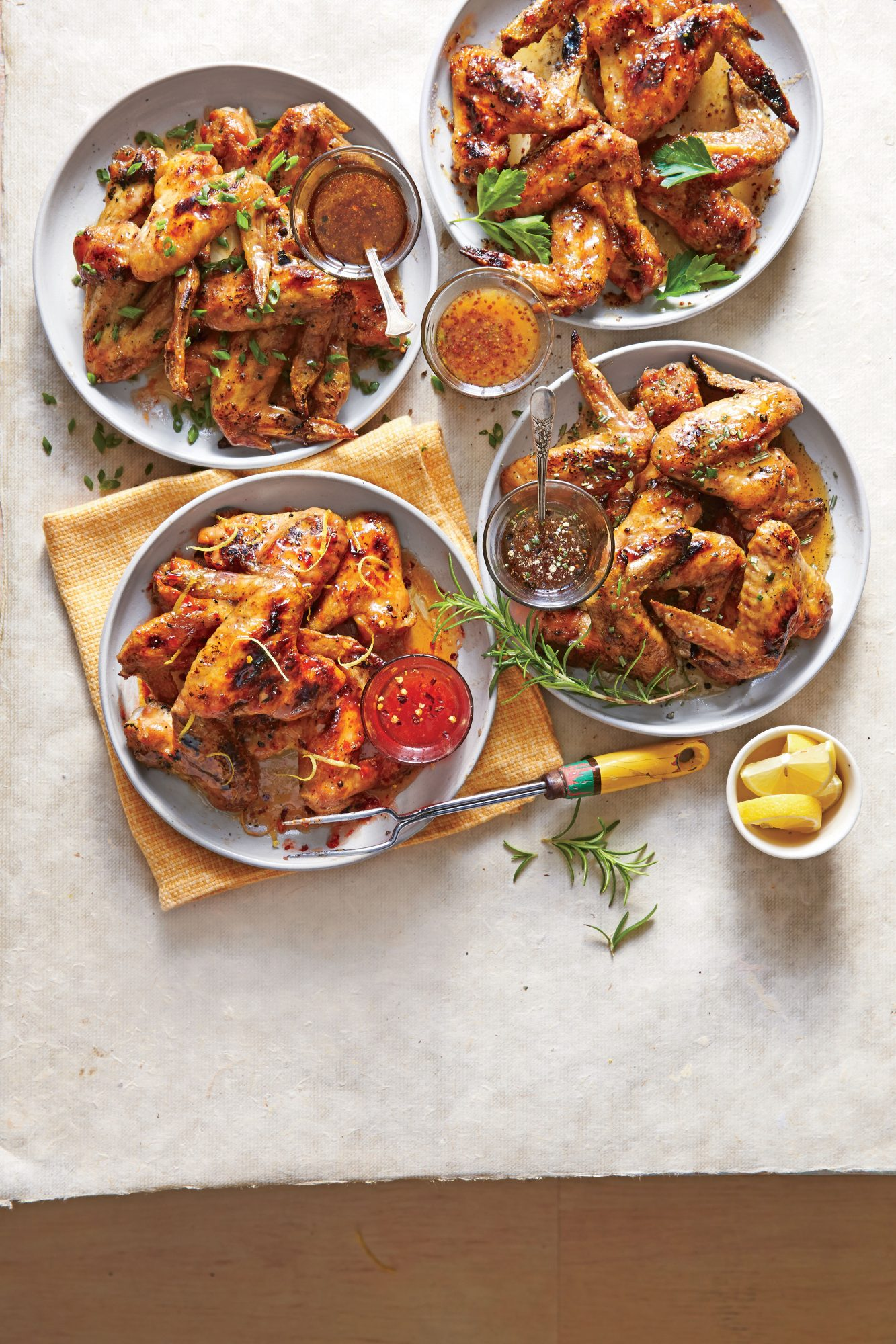 Grilled Salt-and-Pepper Chicken Wings