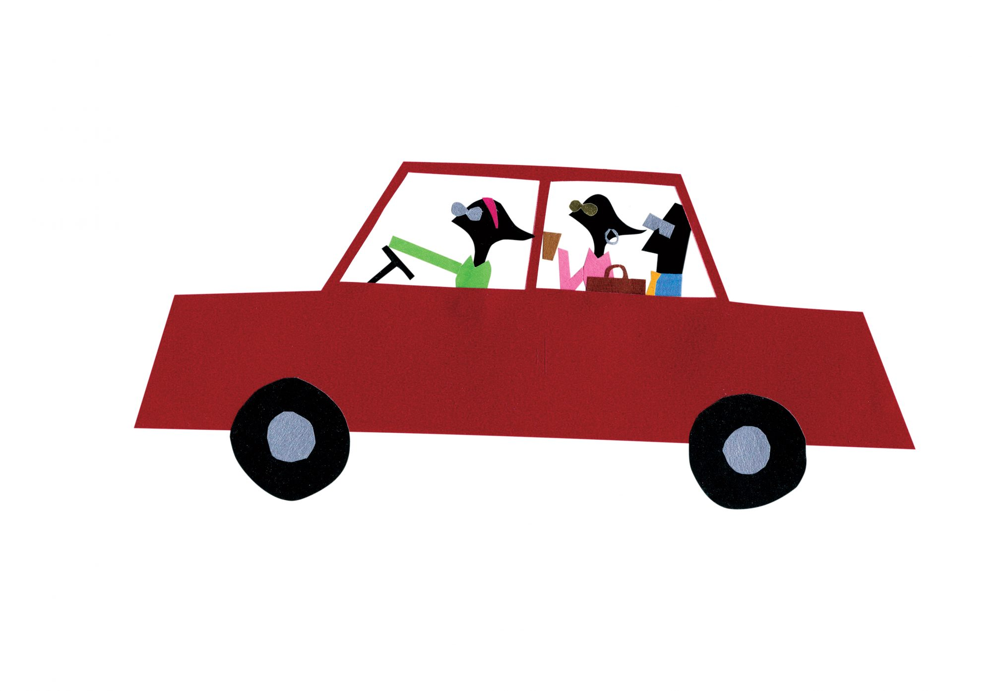 Carpool Illustration