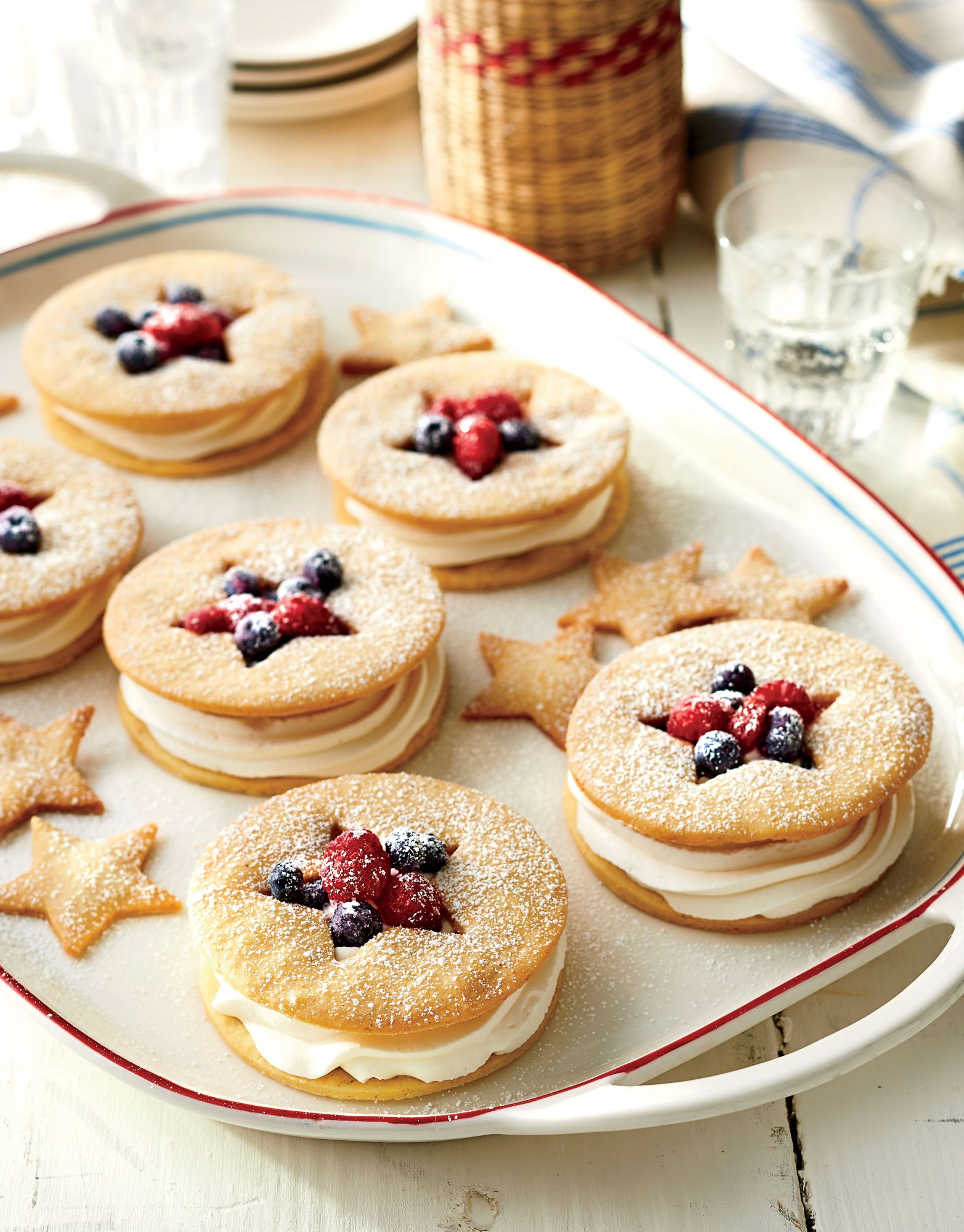 Cornmeal Cookie Berry Shortcakes