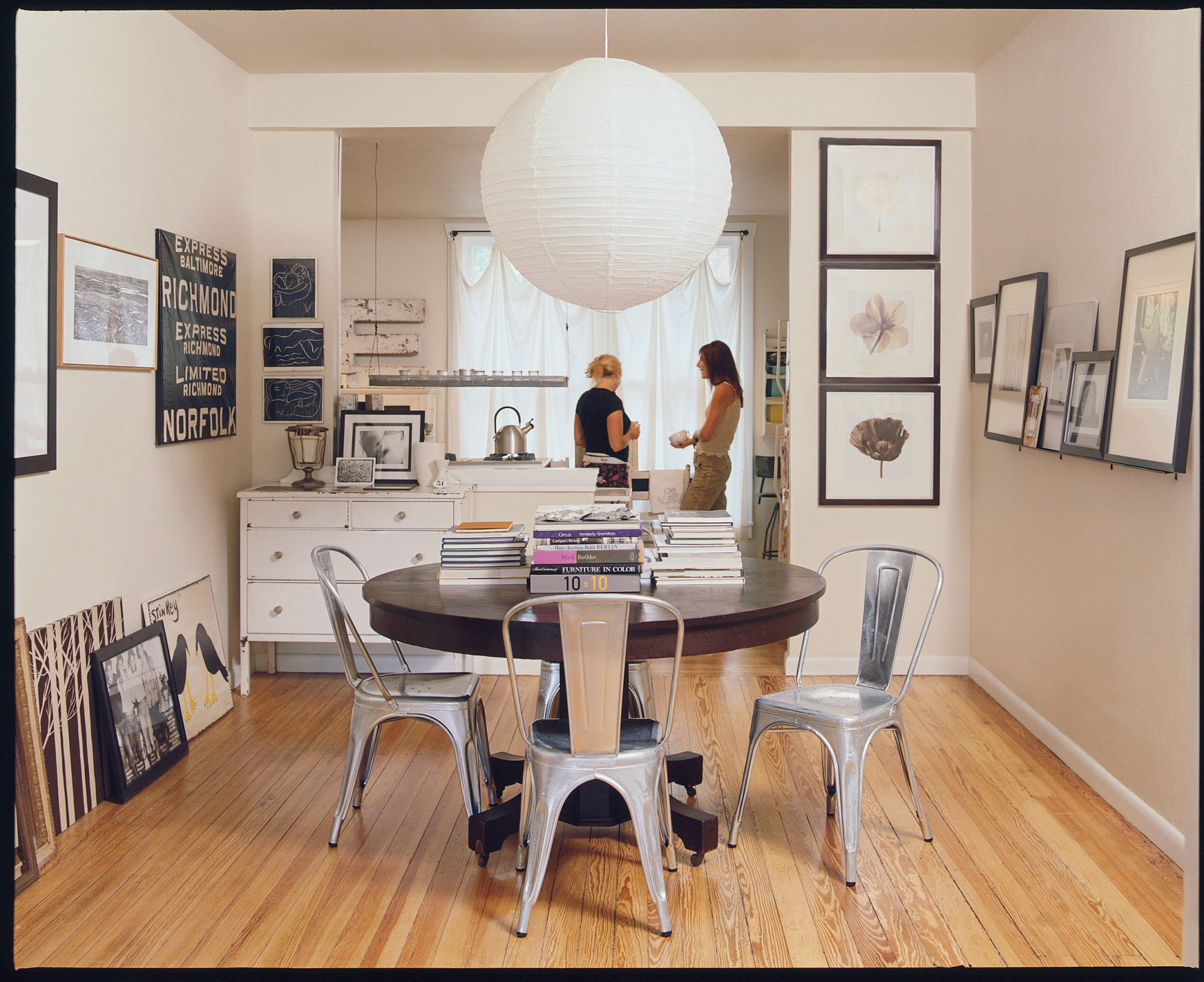 Black and White Dining Room After