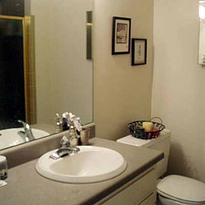 Modern budget bathroom renovation project before photo for Bathroom makeovers