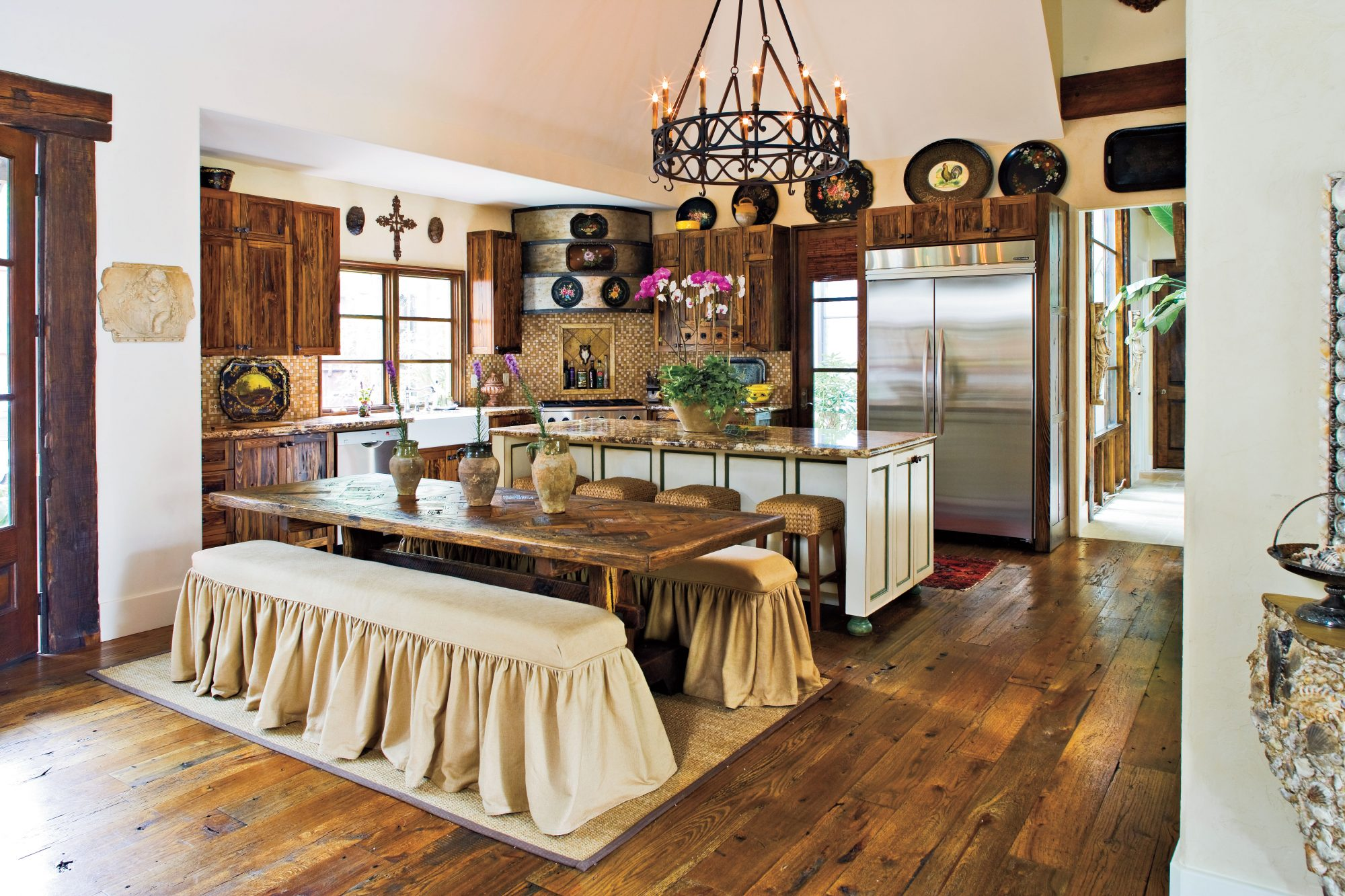 Pecky Cypress Cabinets
