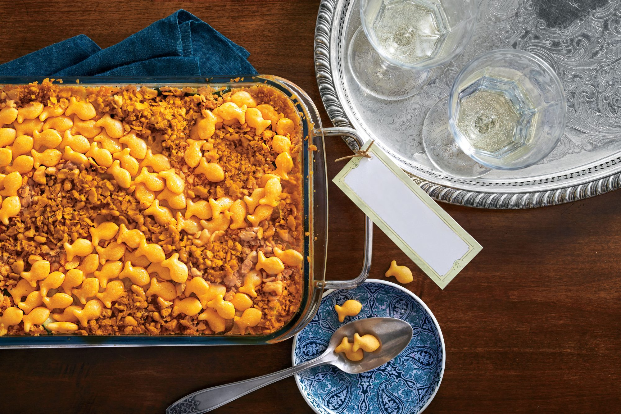 Cheese Cracker-Topped Squash Casserole Recipe