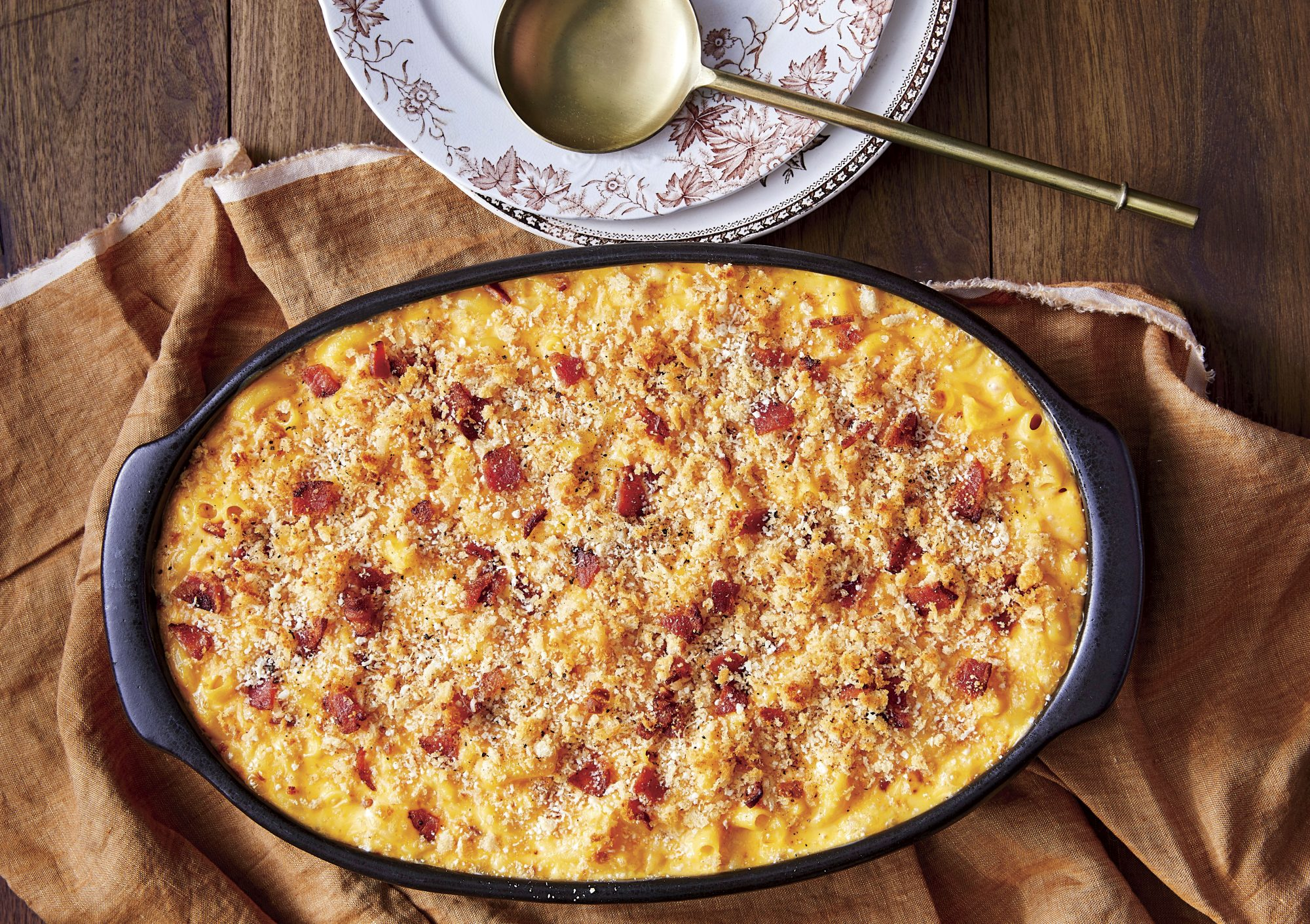 Baked Mac and Cheese with Bacon