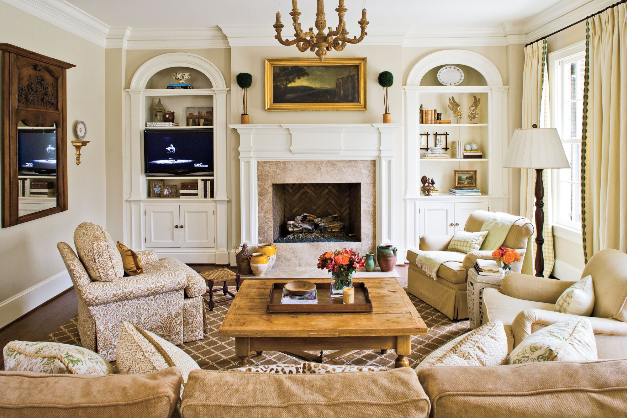 The White's Family Room Fireplace