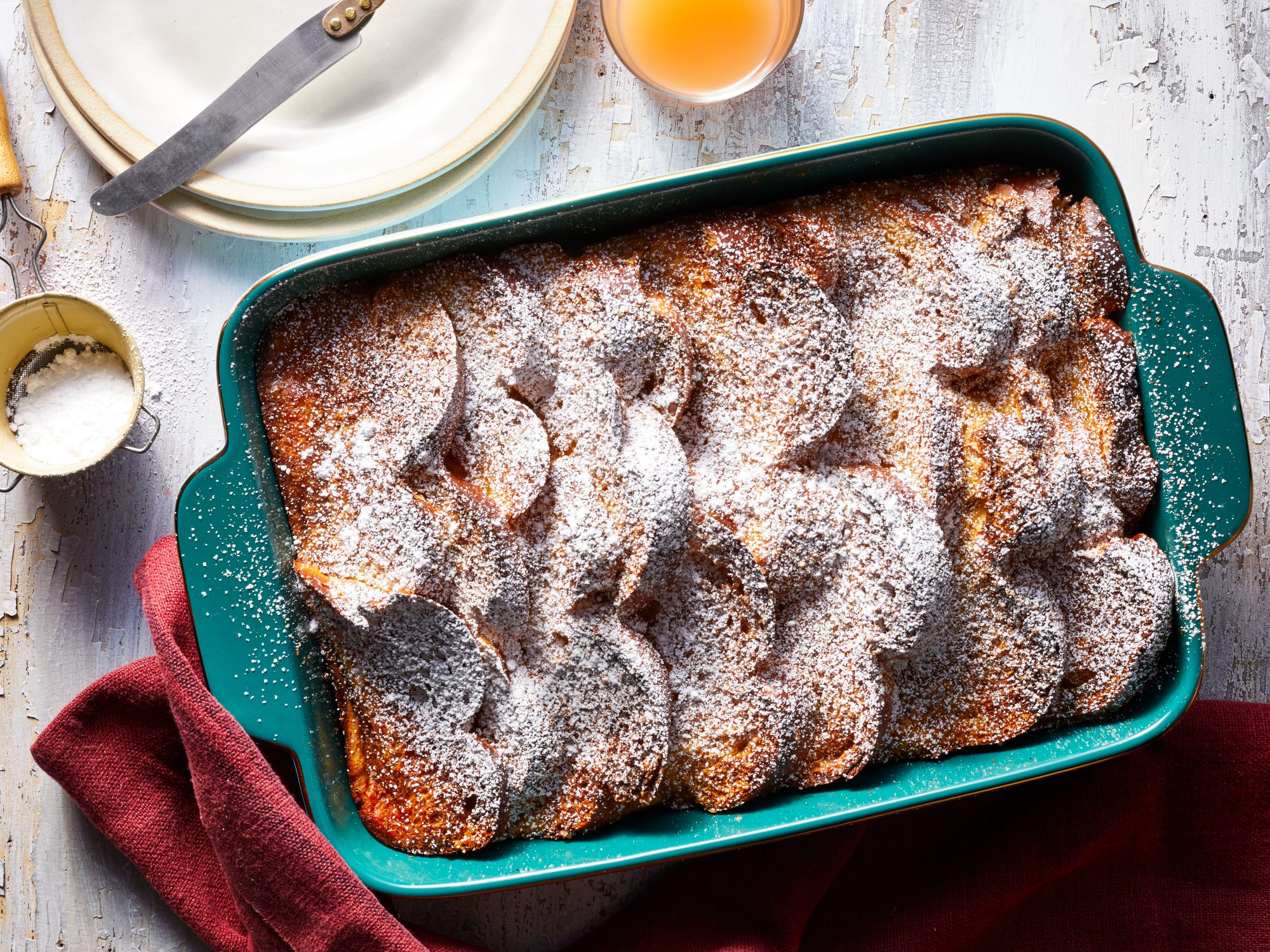 Overnight Eggnog-French Toast Casserole