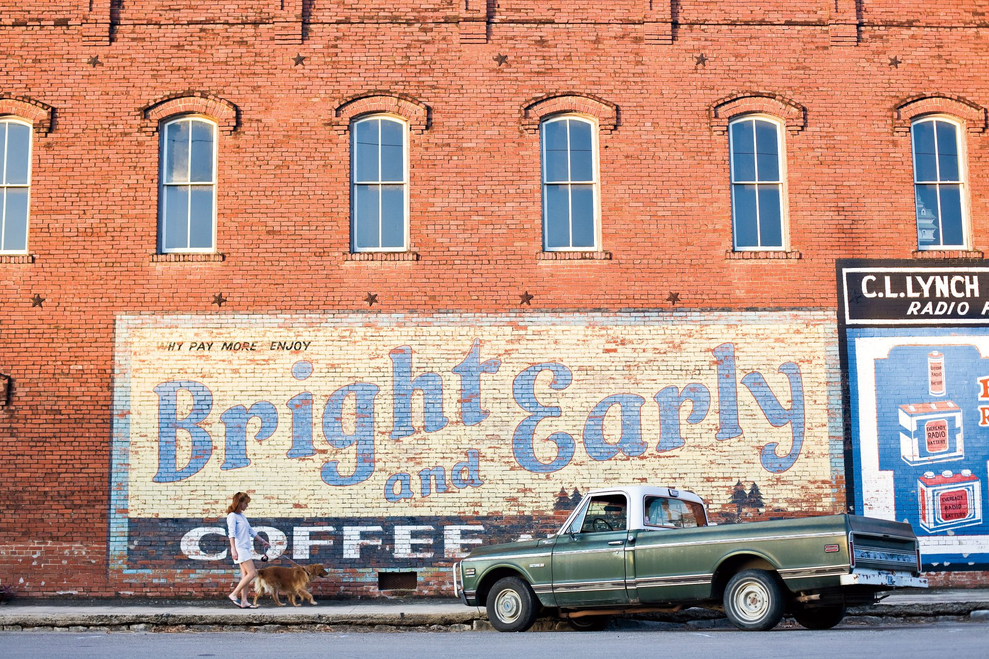 Mural on First Street in Hico, Texas