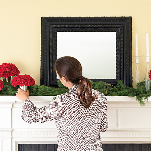 Easy Christmas Mantels: Layer With Color and Sparkle