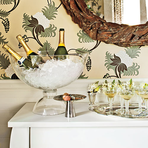 Christmas Table Decorations: Make a champagne bar