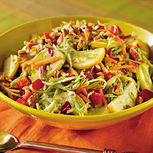 Healthy Food Recipe: Broccoli-Squash Slaw