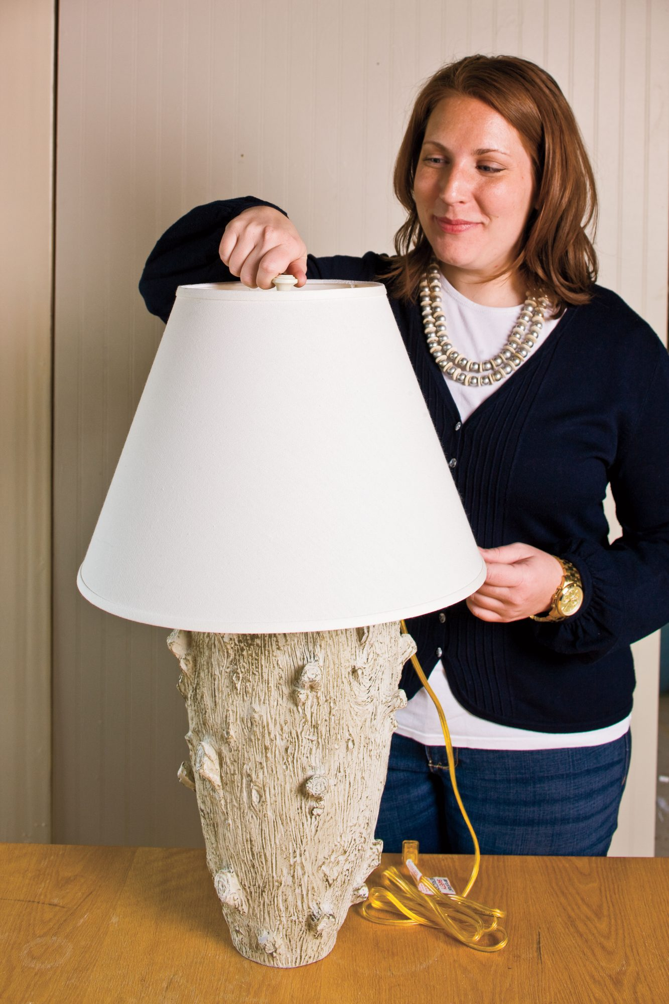 Do It Yourself Table Lamp Craft: Finish the Look