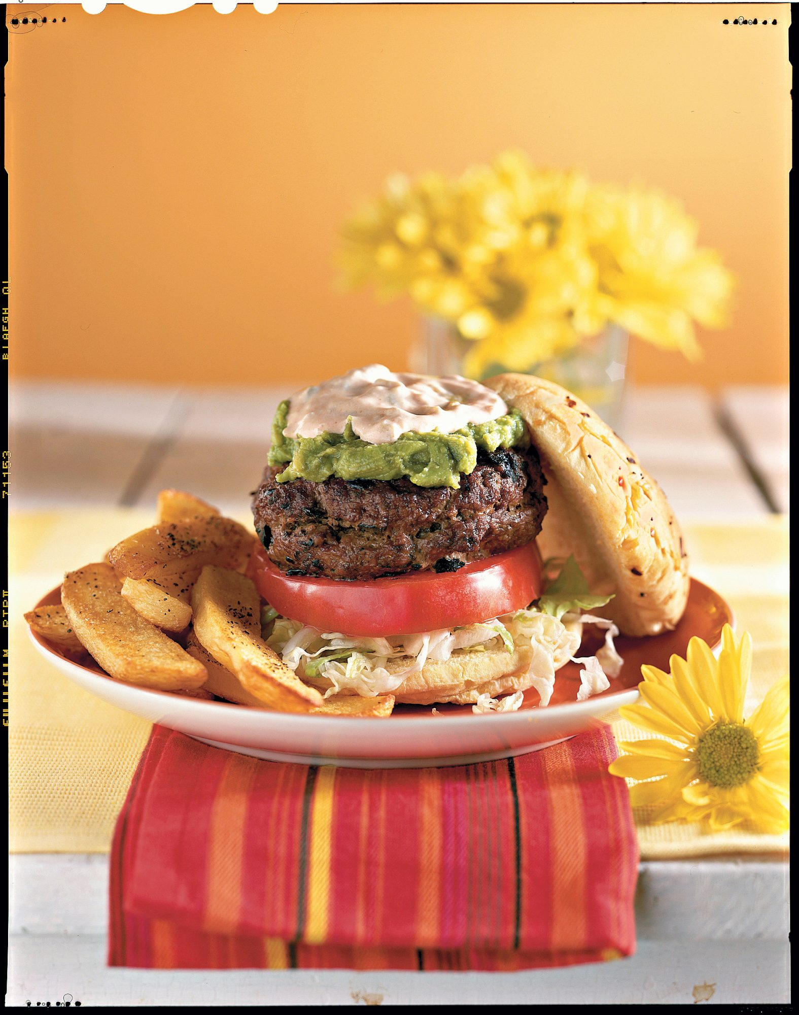 Grilled Burgers and Sanwiches Recipes: Stuffed Border Burgers