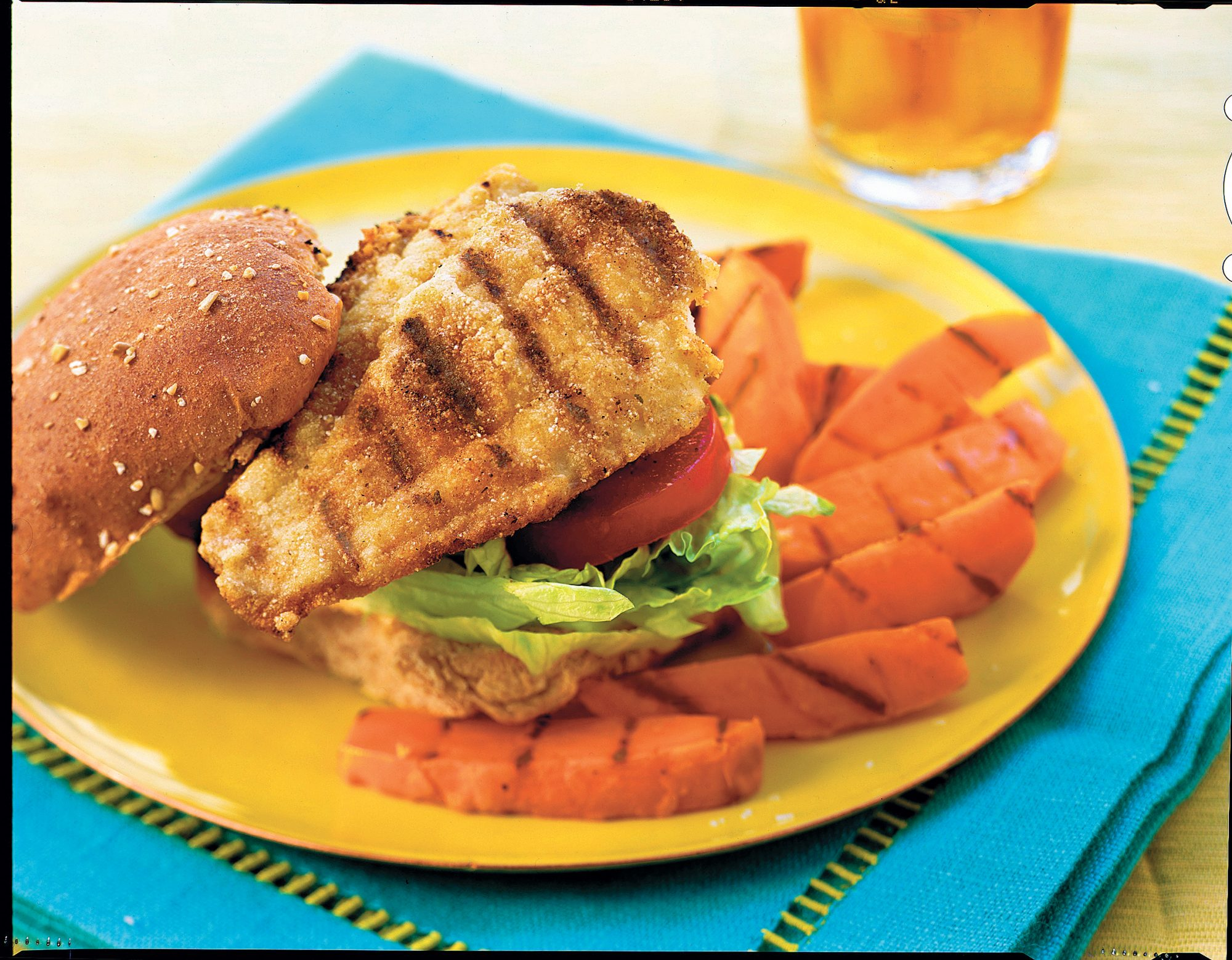 Grilled Burgers and Sanwiches Recipes: Cumin-Dusted Catfish Sandwiches