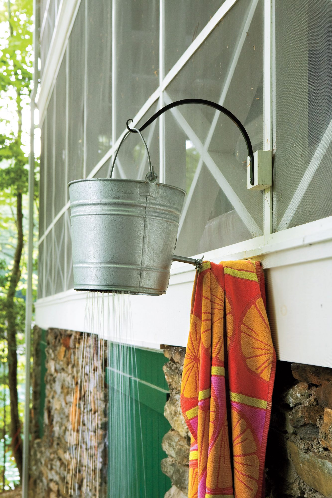 Lakeside Cabin Makeover: Shower Bucket