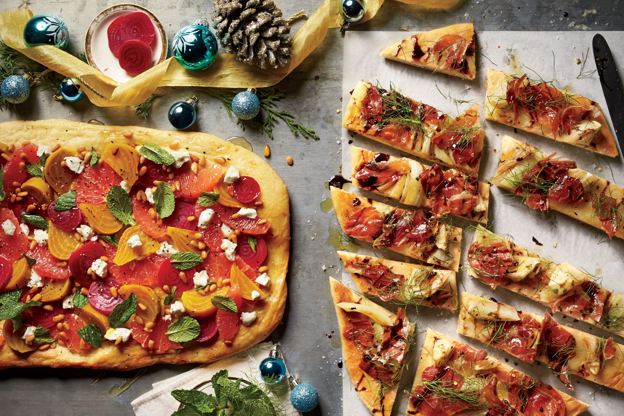 Best party appetizers and recipes southern living roasted fennel and prosciutto flatbread forumfinder Gallery