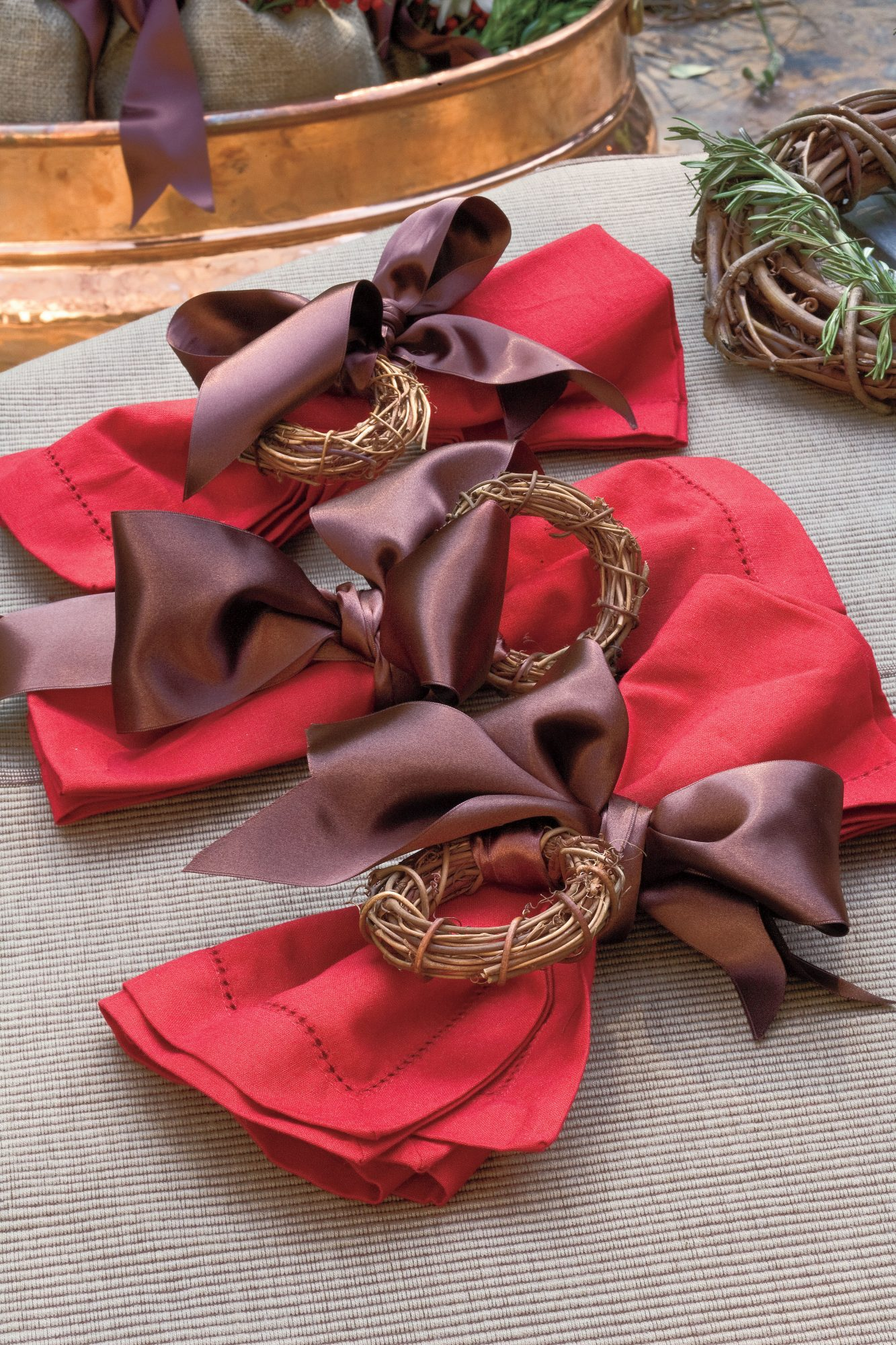 Napkin Ring Wreath
