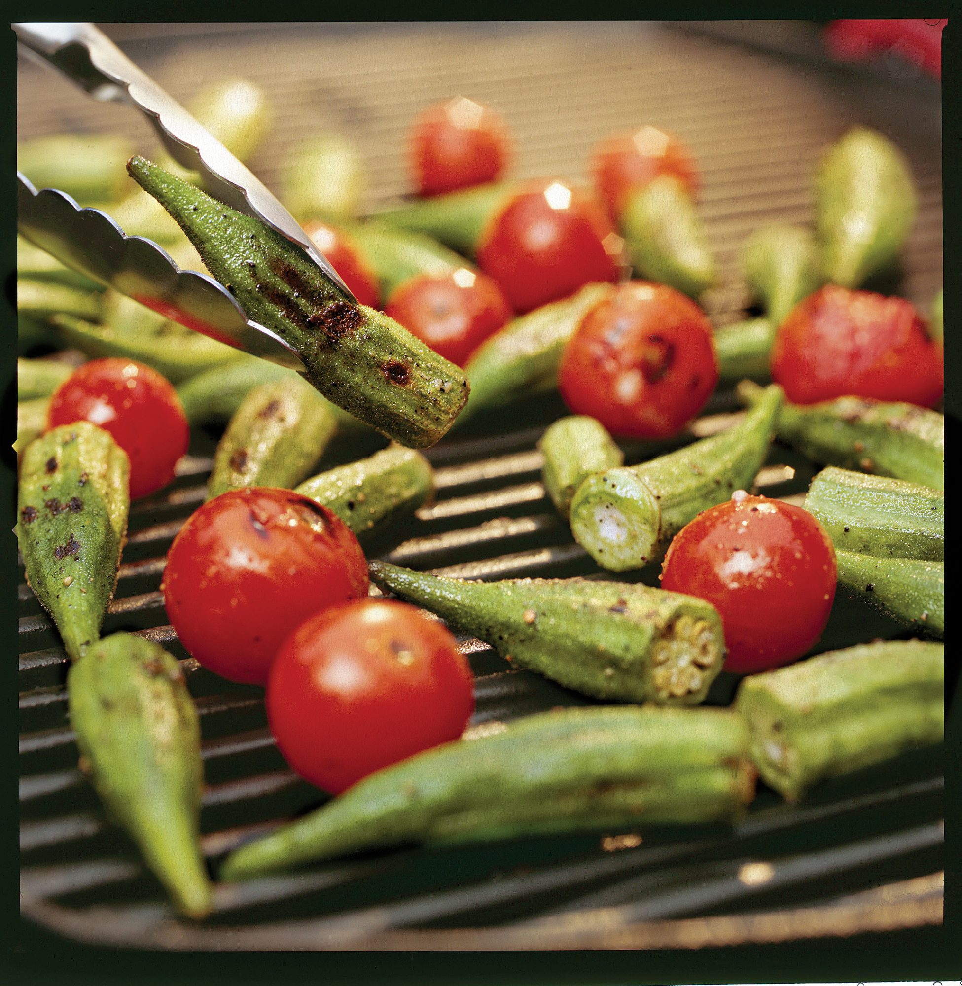 Fourth of July Recipes: Grilled Okra and Tomatoes