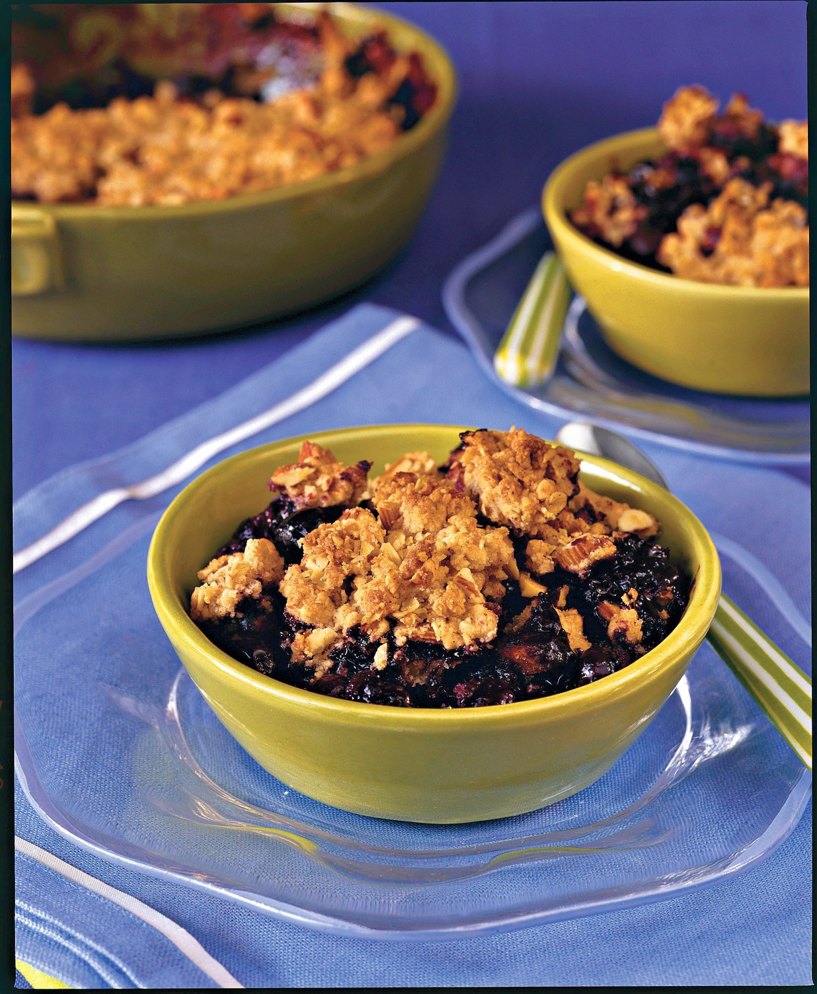 Healthy Desserts: Blueberry-Almond Cobbler
