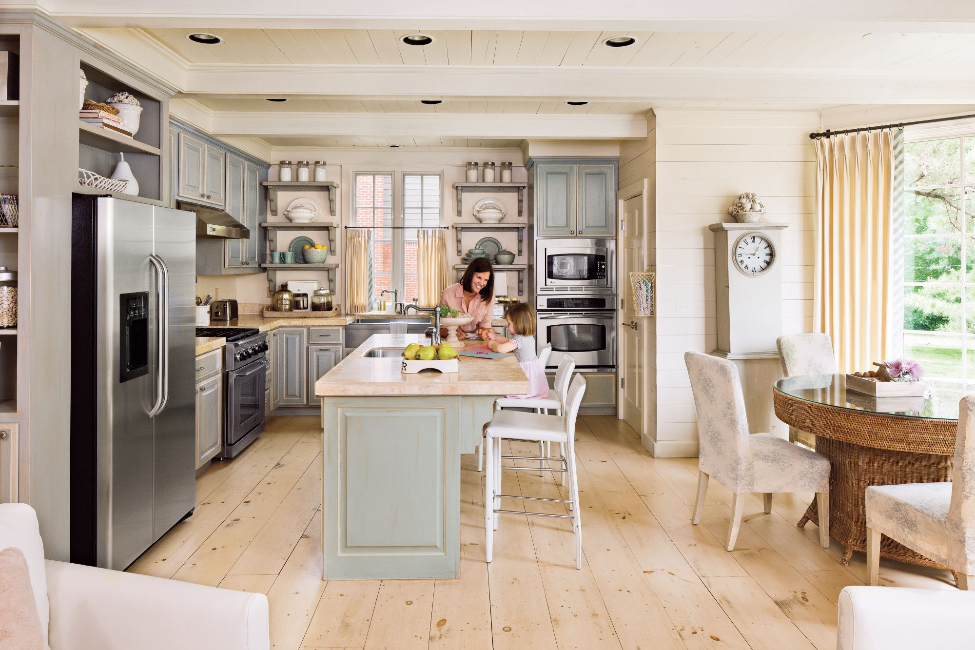 L Shaped Kitchen Layout Ideas kitchen layouts and essential spaces - southern living