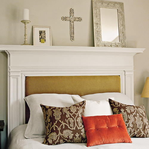 Make a Mantel Your Headboard