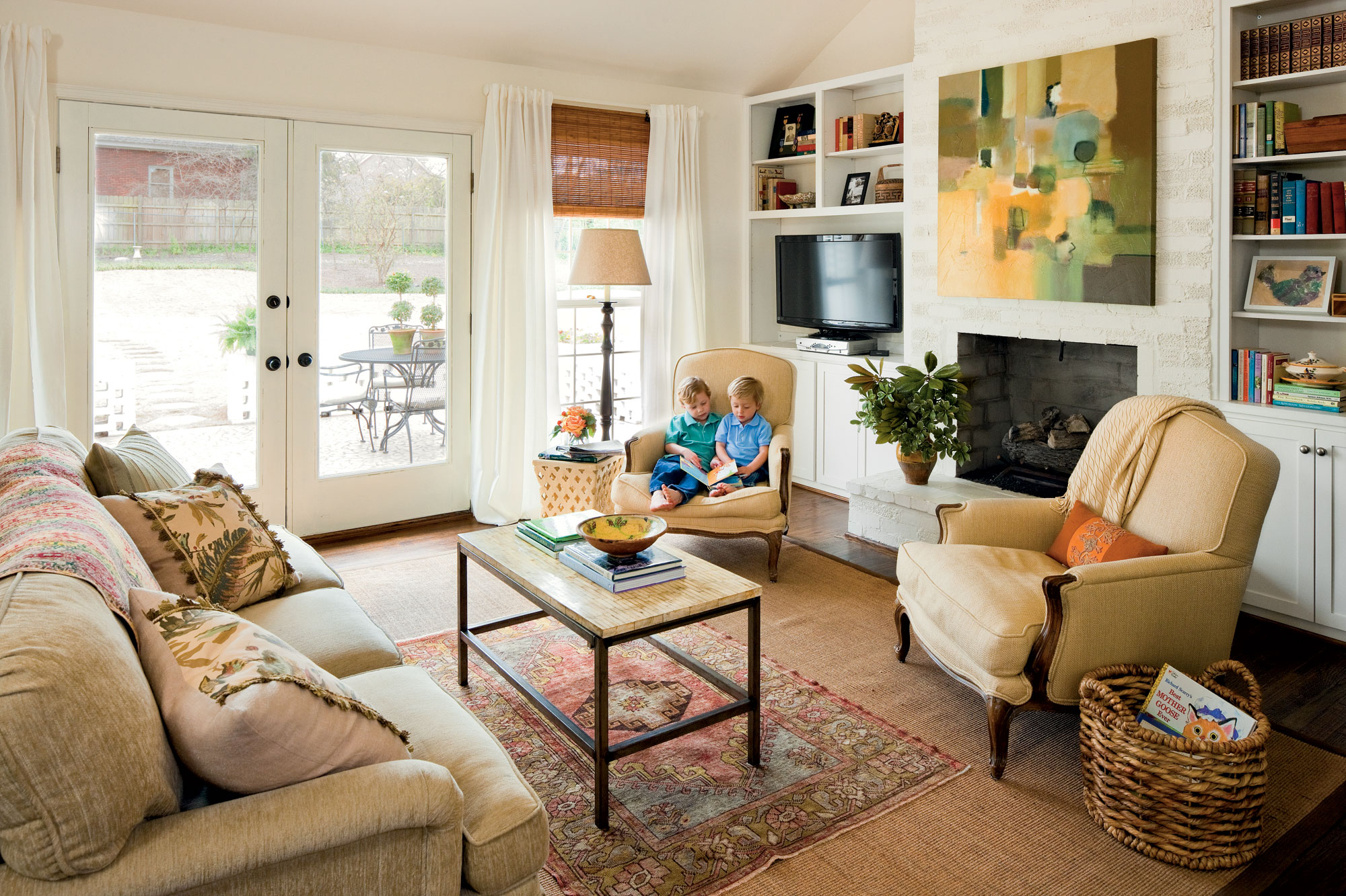 southern living family rooms. After  Family Room Before and Kitchen Southern Living