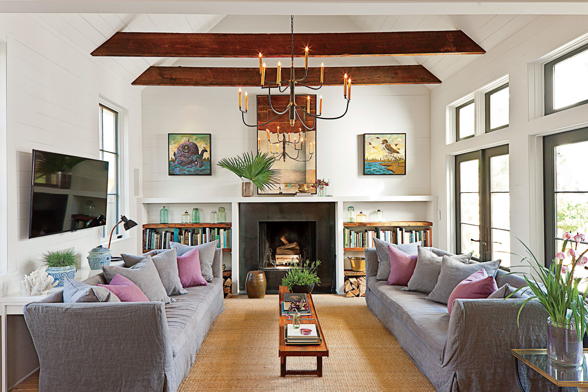 southern living room designs. inviting family room design southern living designs