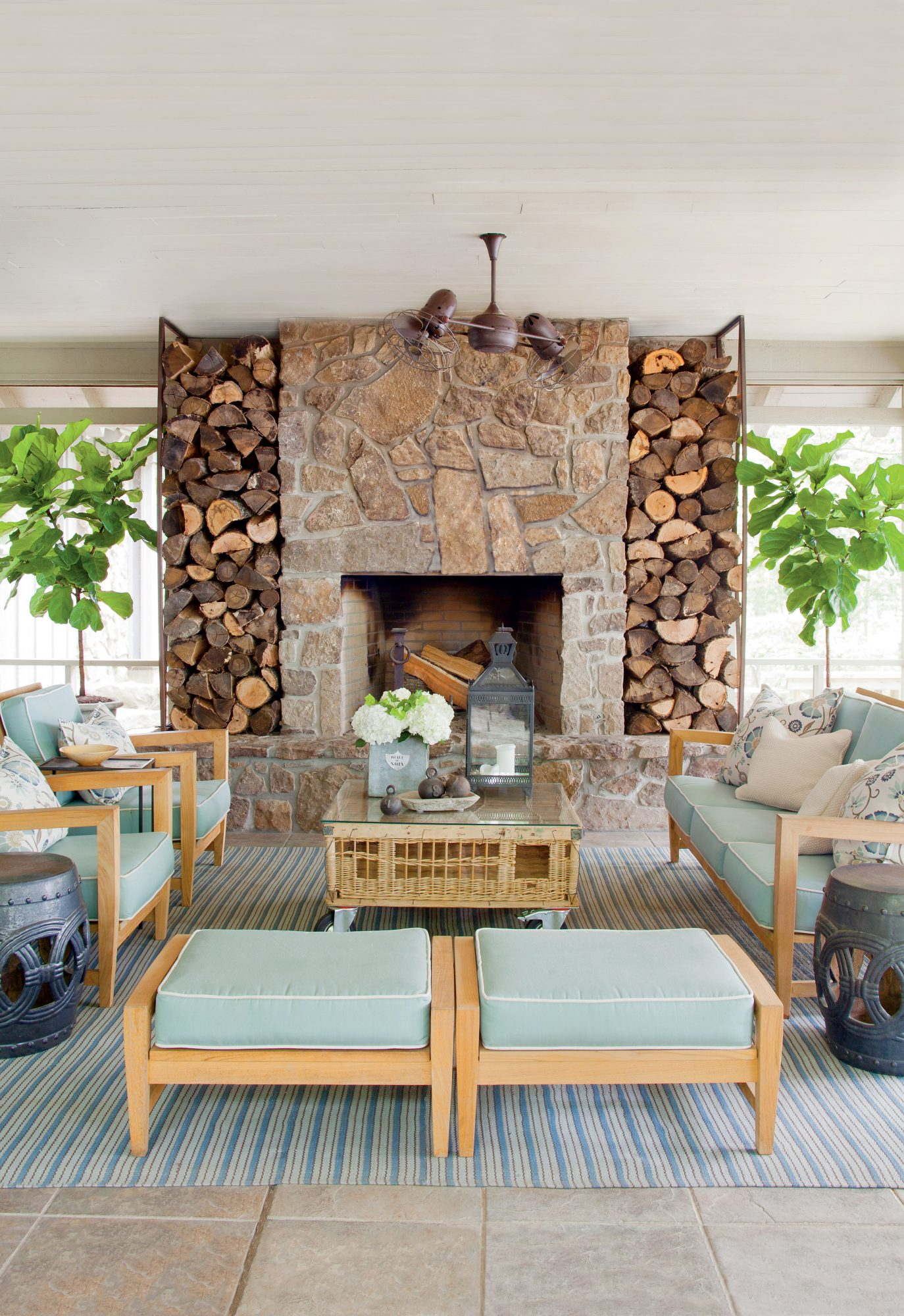 Nature-Inspired Porch