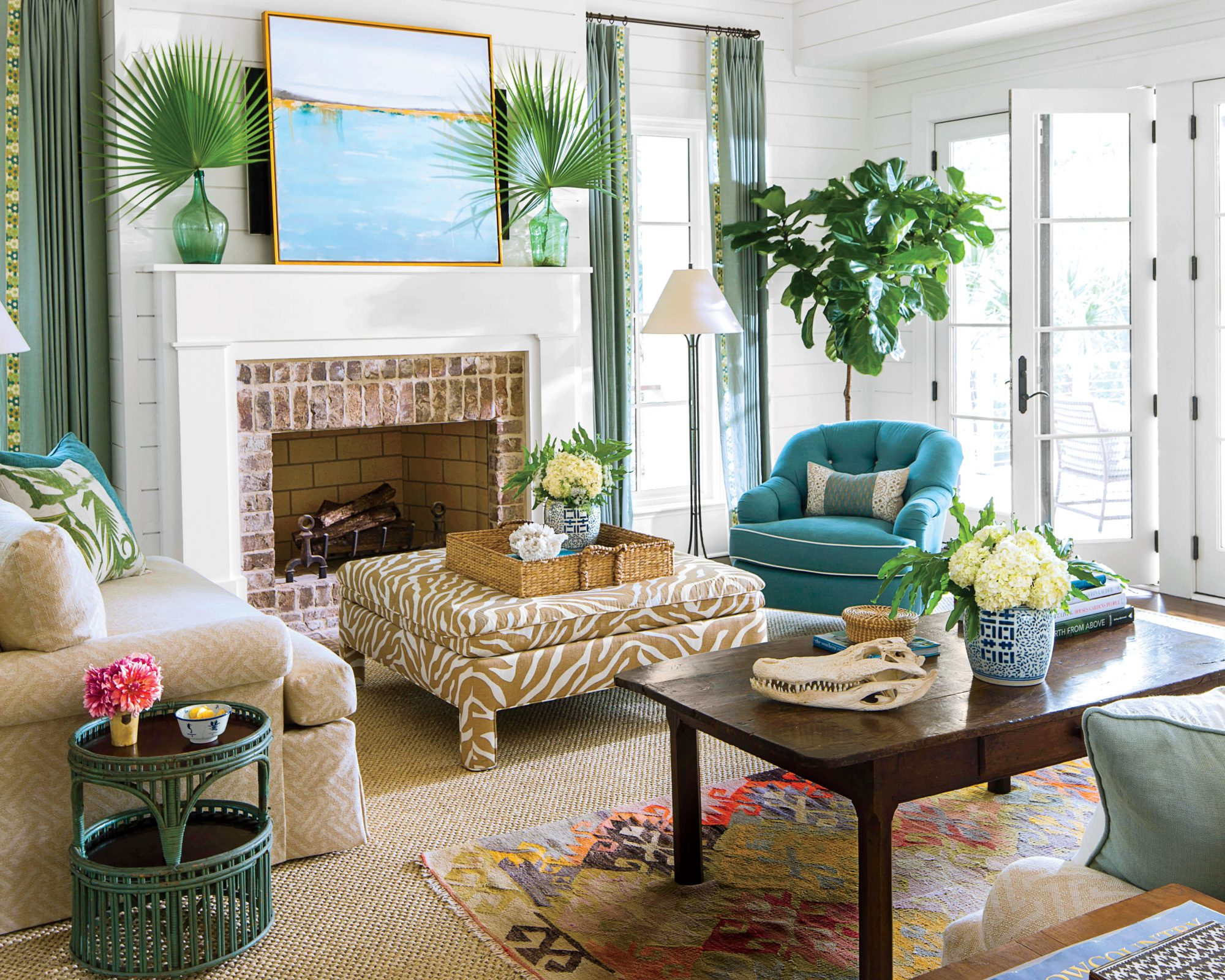 Delightful Coastal Lowcountry Living Room