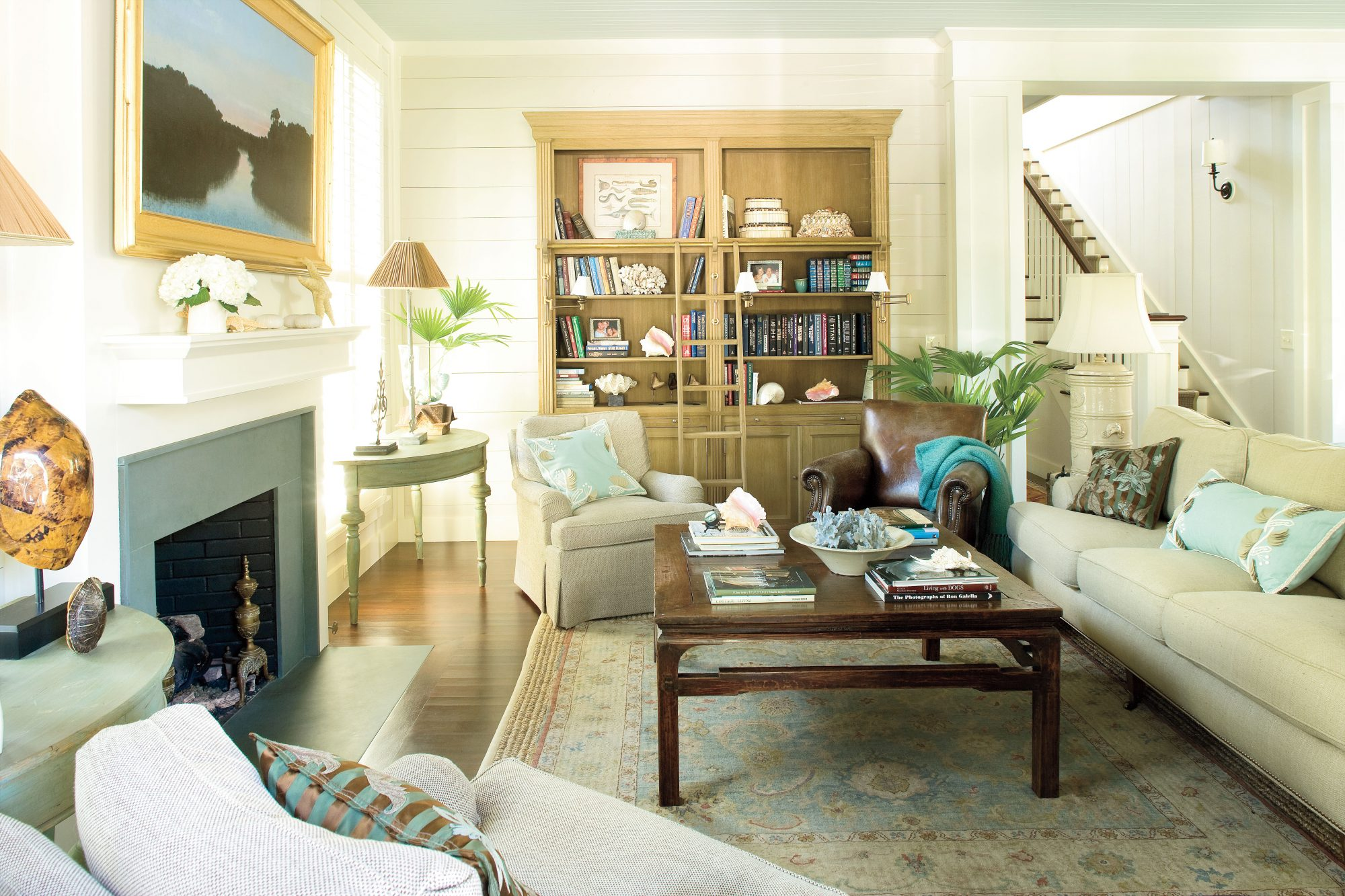 Tropical Living Room Beach Decorating Ideas  Southern