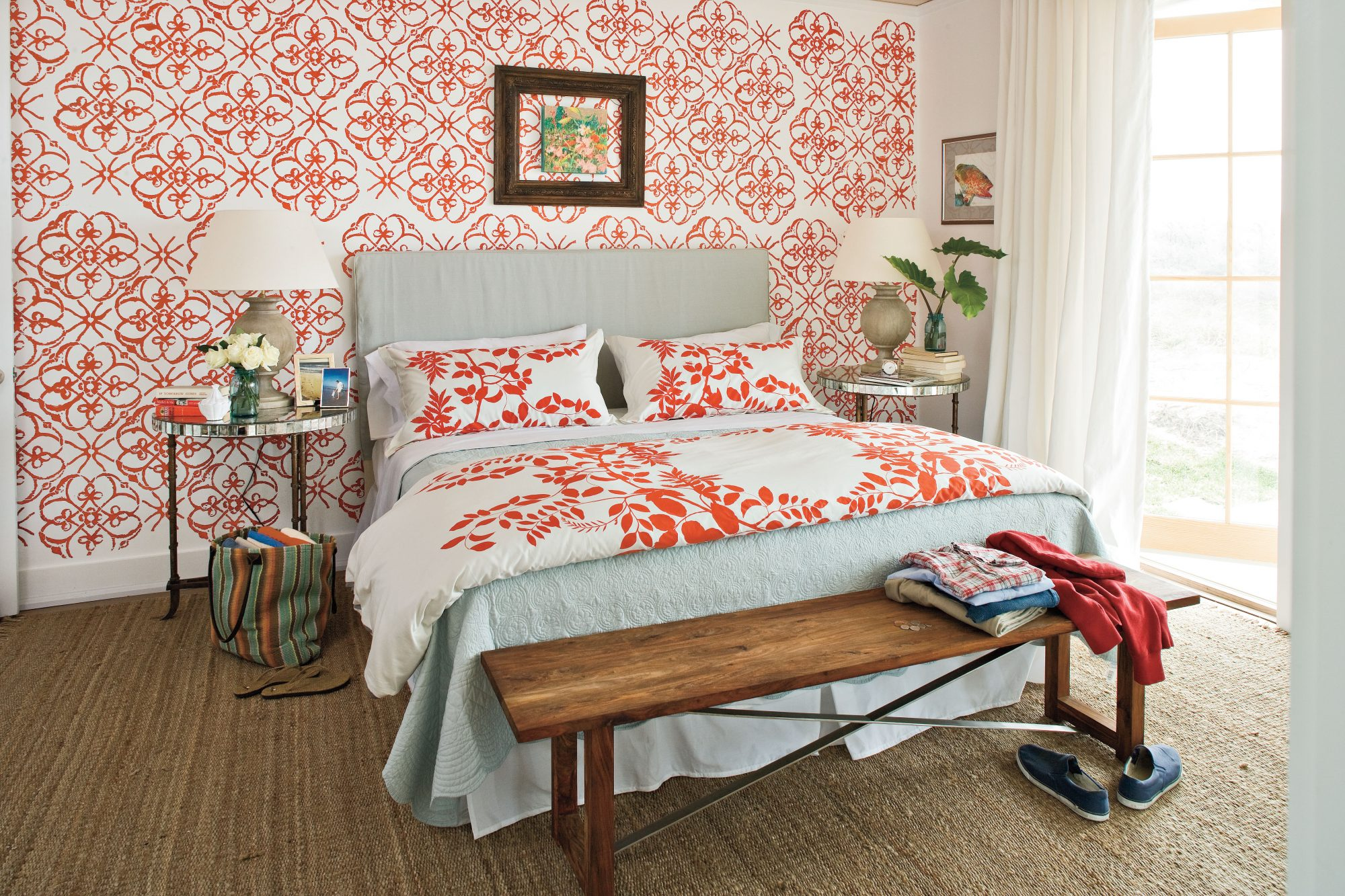 captivating beach chic master bedroom | Colorful Beach Bedroom Decorating Ideas - Southern Living
