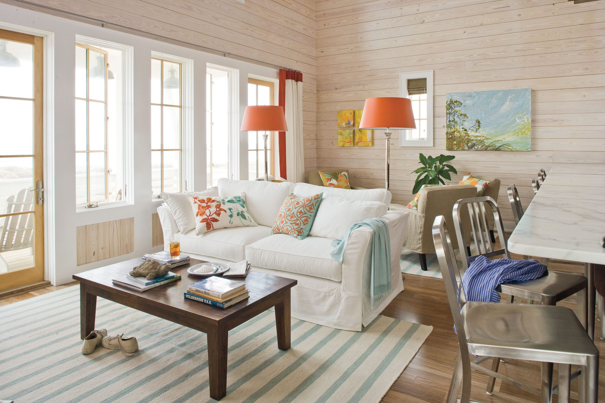 Colorful Living Room Beach Decorating Ideas  Southern