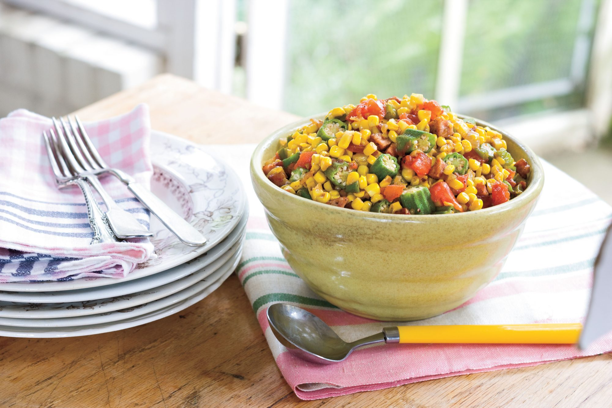 Summer Local Produce Recipes: Okra-and-Corn Maque Choux