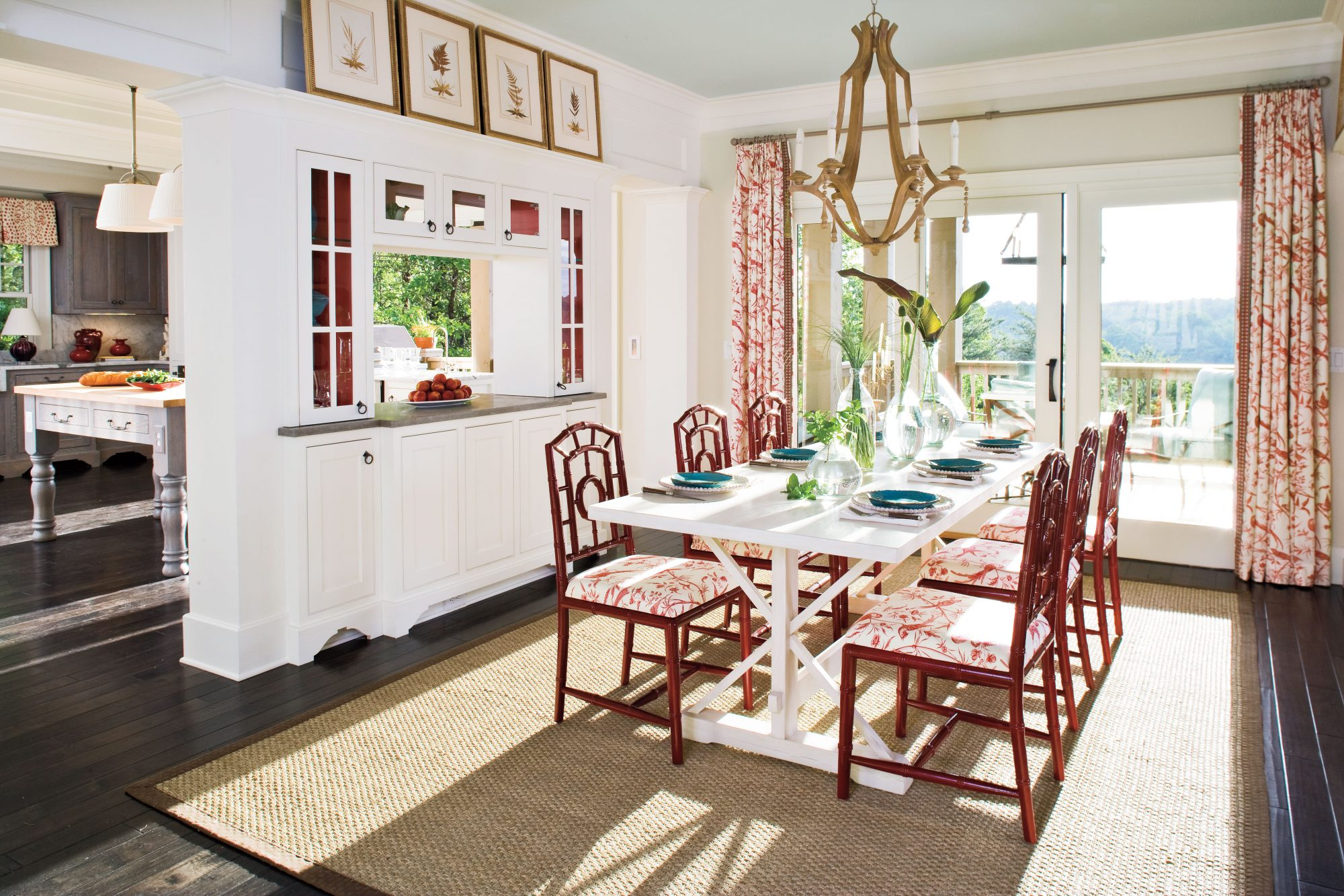 Stylish dining room decorating ideas southern living - Kitchen table small space decoration ...