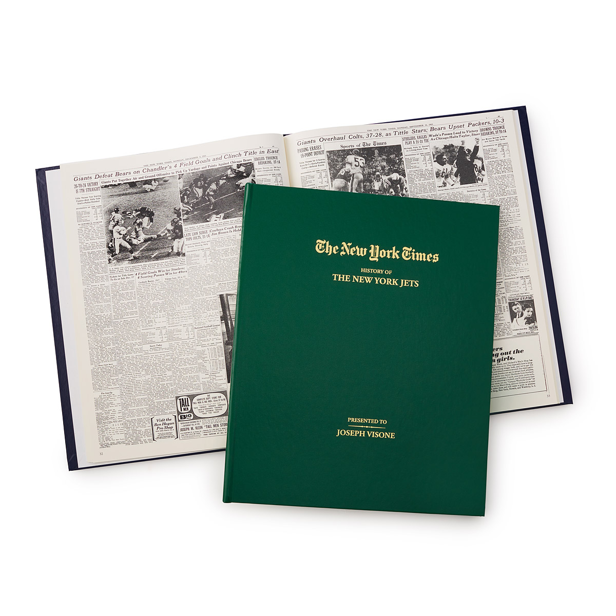 New York Times Customized Football Book