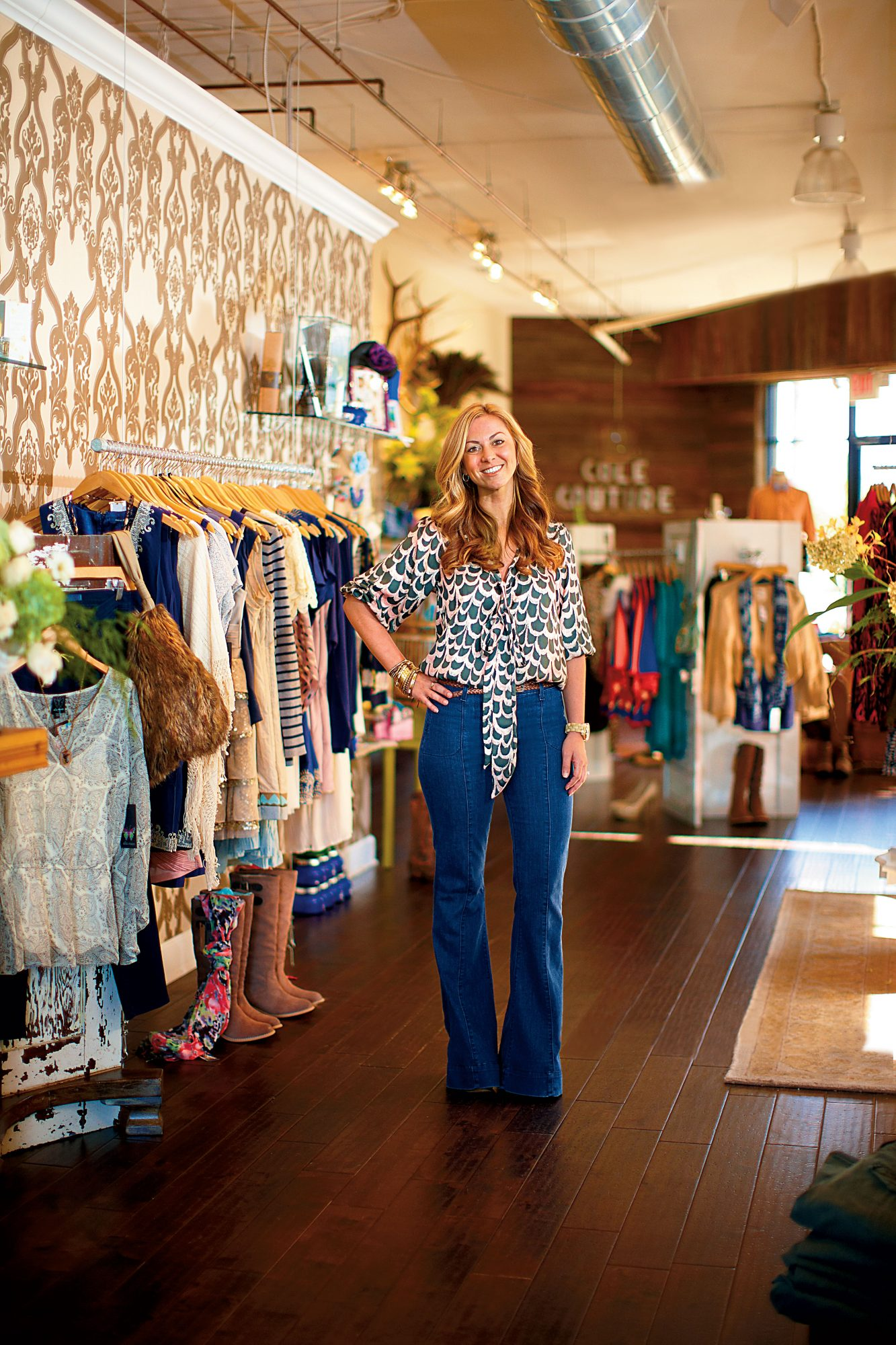 Carrie McNeill at her Cole Couture Boutique