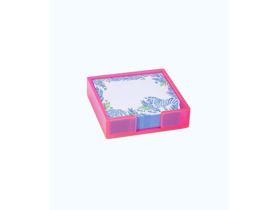 Lilly Pulitzer Small List Pad with Acrylic Holder