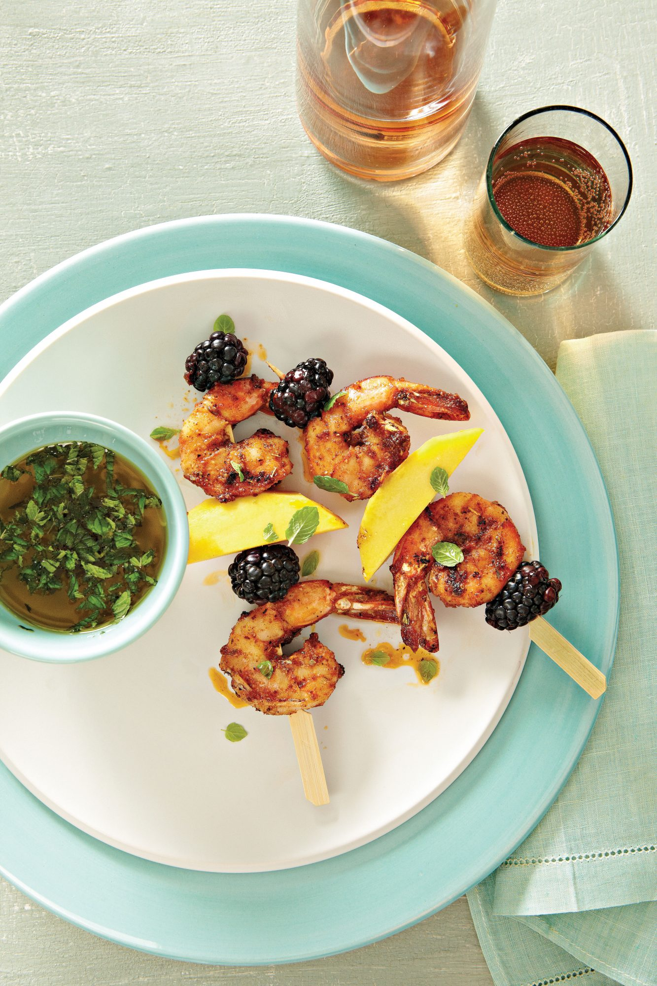 Grilled Blackened Shrimp Skewers Recipe