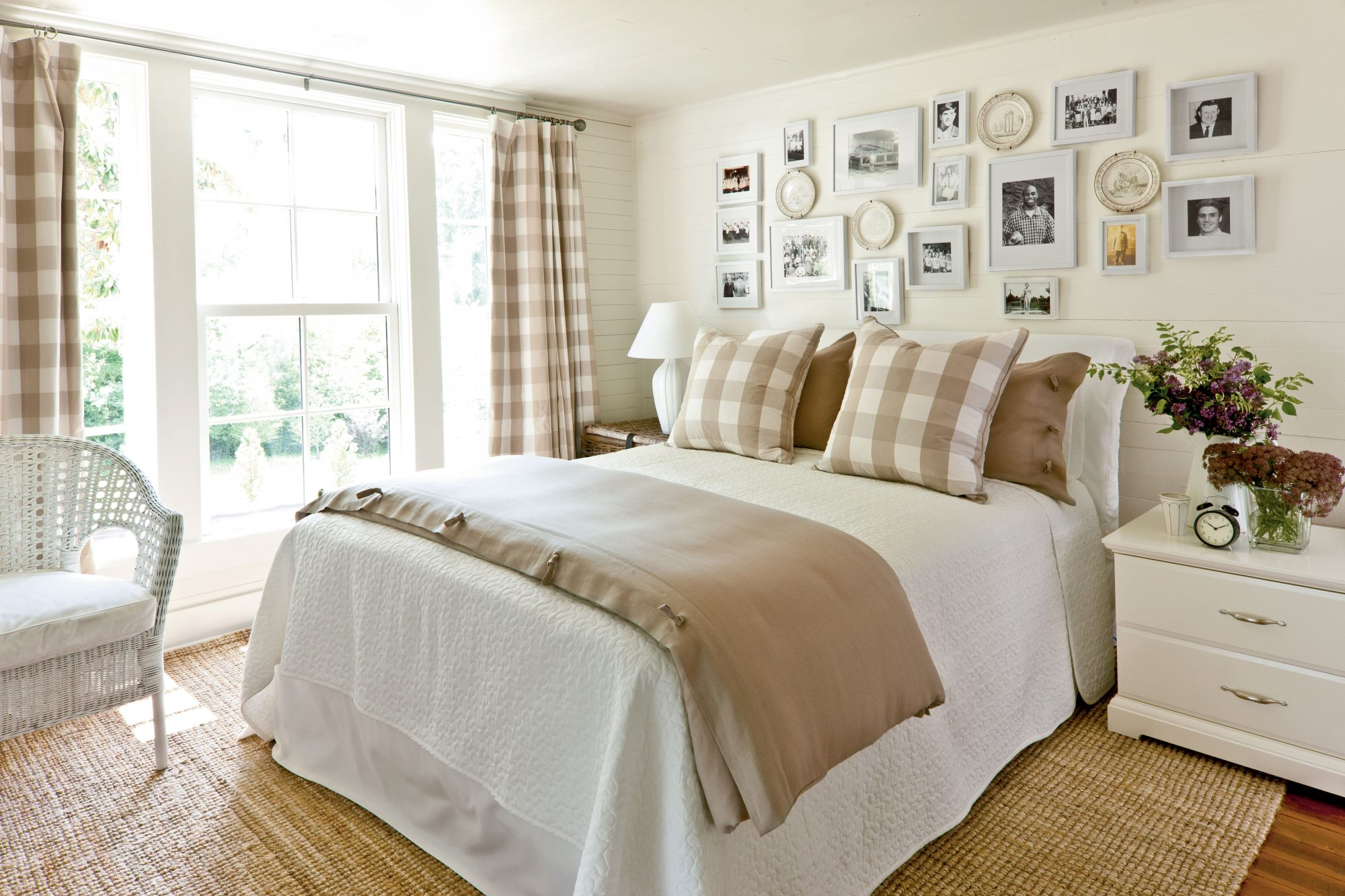 Khaki Gingham Bedroom