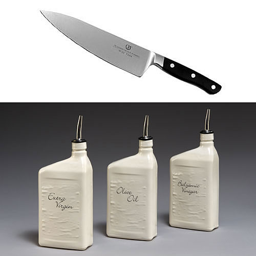 CIA 8  Chef's Knife & Mudshark Studios Oils